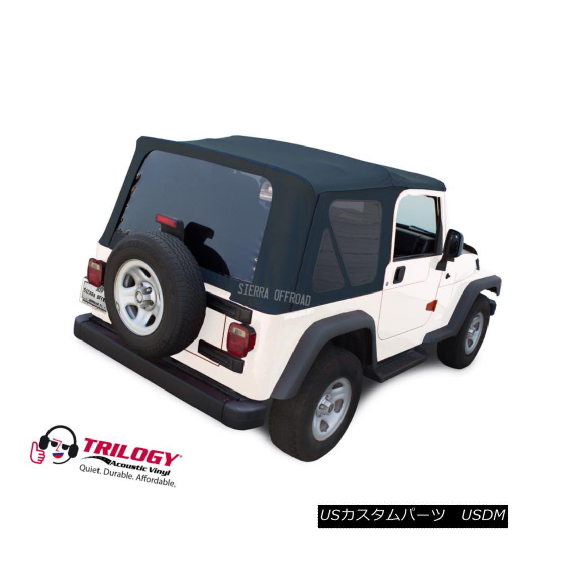 幌・ソフトトップ Jeep Wrangler TJ Soft Top (2003-2006) Tinted Windows, Blue Twill Vinyl ジープラングラーTJソフトトップ(2003年?2006年)は、Windows、ブルーツイルビニール
