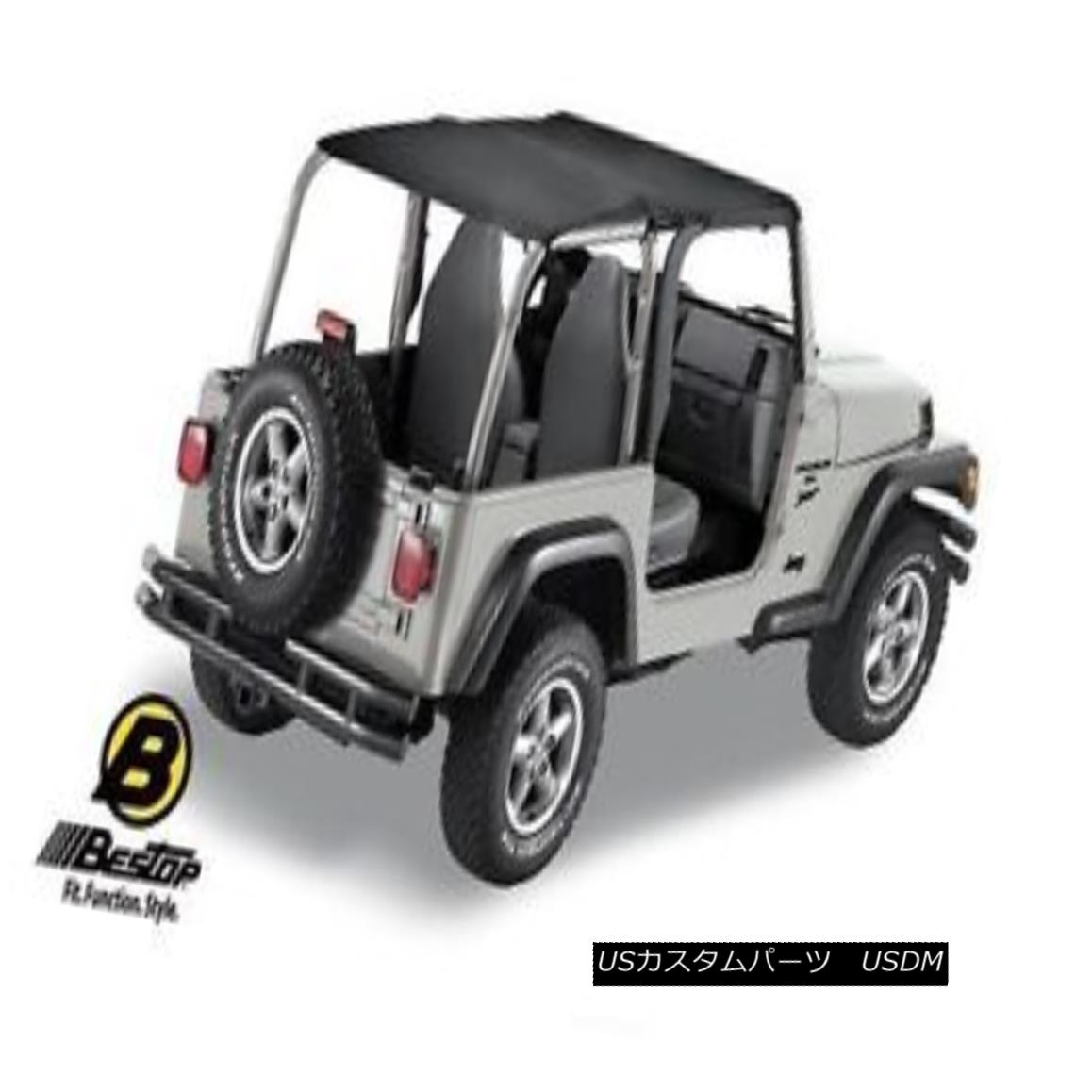 Rampage Soft Top Storage Boot 97-06 Jeep Wrangler TJ 600015 Denim Black