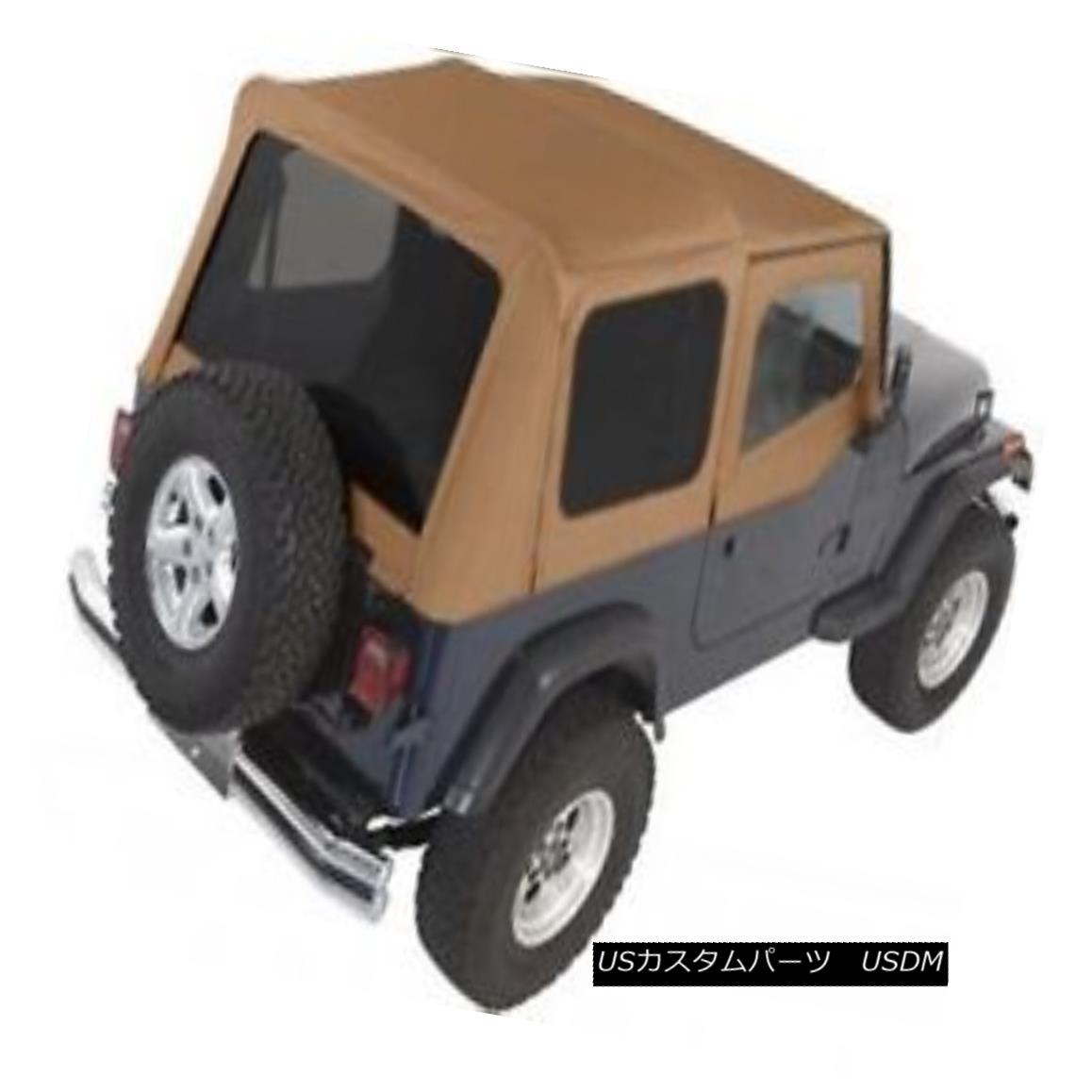 幌・ソフトトップ Complete Soft Top w/ Upper Half Doors, 1987-1995 Jeep Wrangler YJ -Spice Denim アッパーハーフドア、1987-1995ジープラングラーYJ - スパイスデニムで完全なソフトトップ