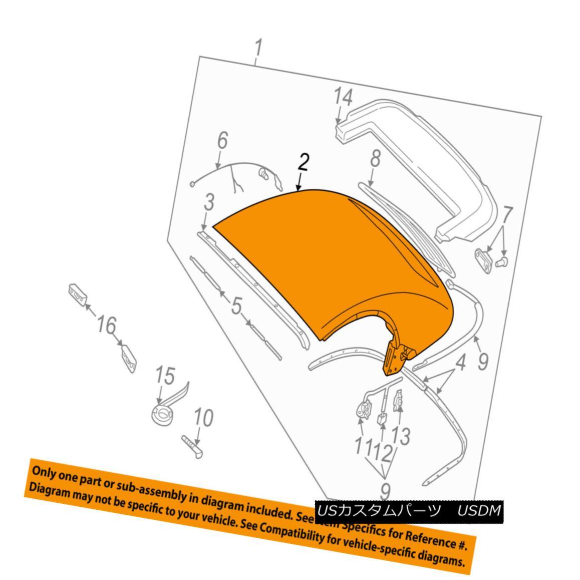 幌・ソフトトップ AUDI OEM 02-06 TT Quattro Convertible/soft Top-Top Cover 8N7871035E80 AUDI OEM 02-06 TT Quattro Convertible / so ftトップトップカバー8N7871035E80