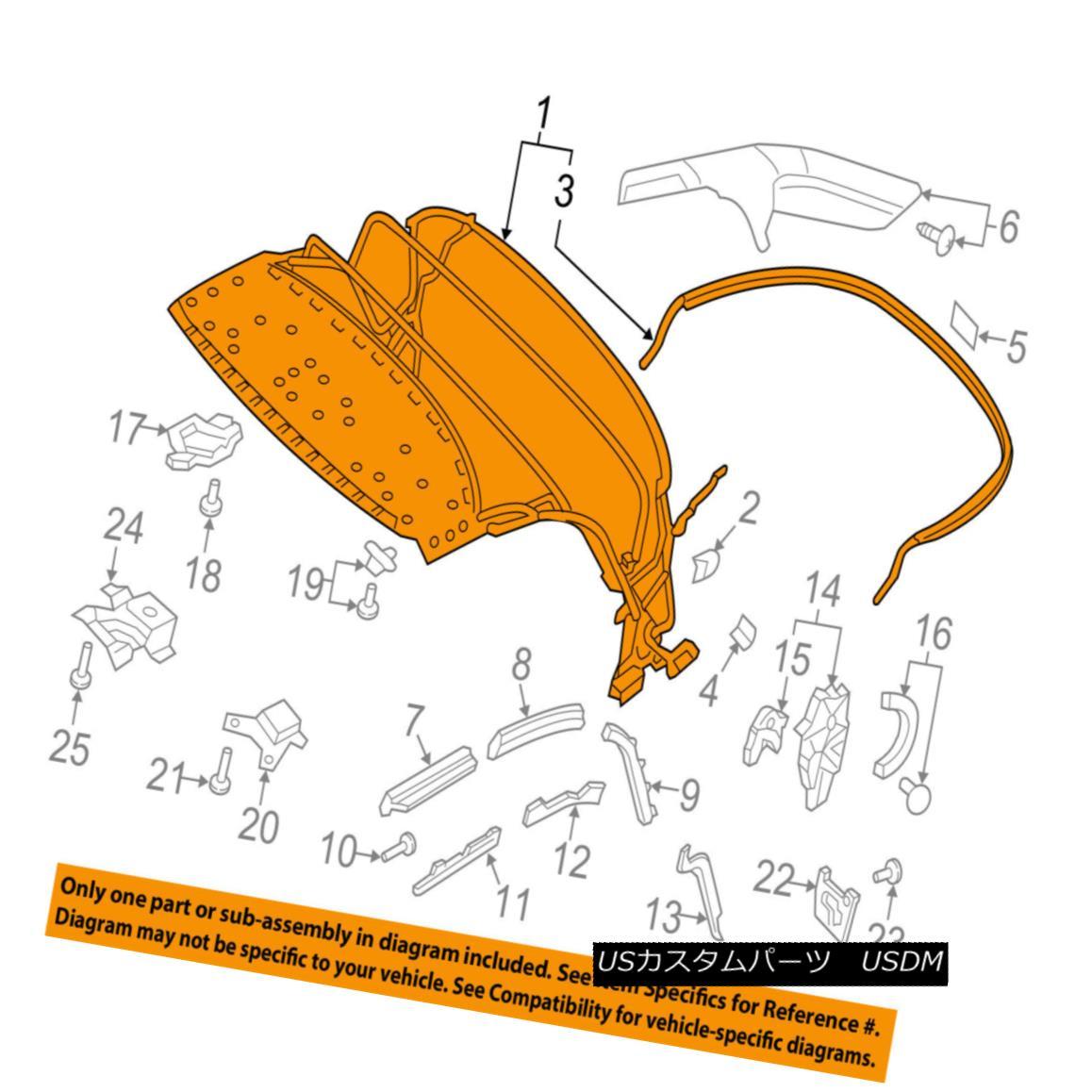 幌・ソフトトップ AUDI OEM 16-17 TT Quattro Convertible/soft Top-Top Frame 8S7871025 AUDI OEM 16-17 TT Quattro Convertible / so ftトップトップフレーム8S7871025