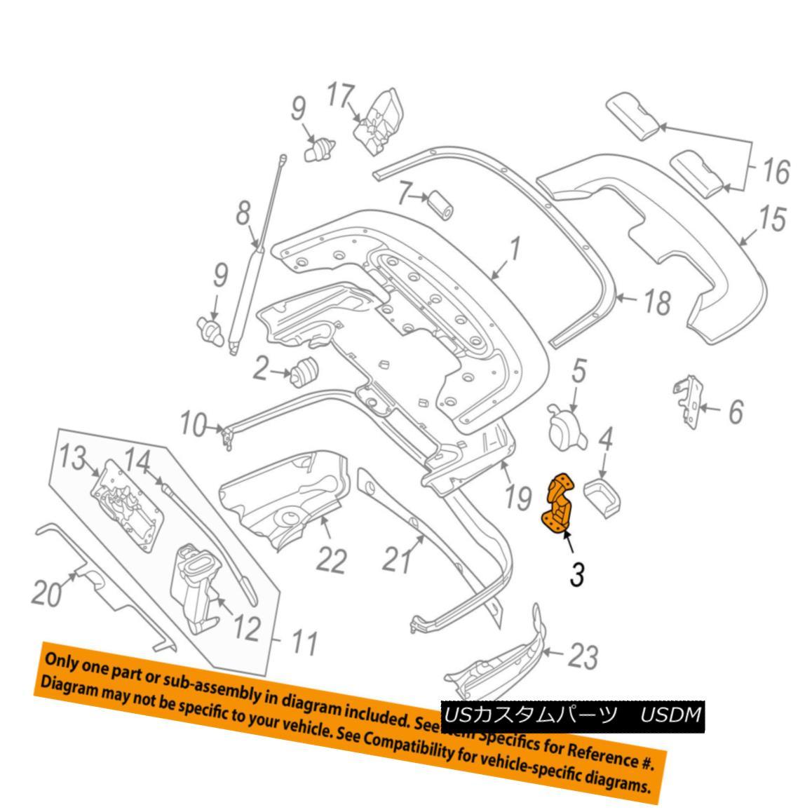 車用品 バイク用品 >> パーツ 外装 エアロパーツ その他 幌 ソフトトップ AUDI OEM Convertible A4 8H0825307A ftトップヒンジ8H0825307A so 即出荷 Top-Hinge A4コンバーチブル 2020新作 soft アウディOEM 03-09