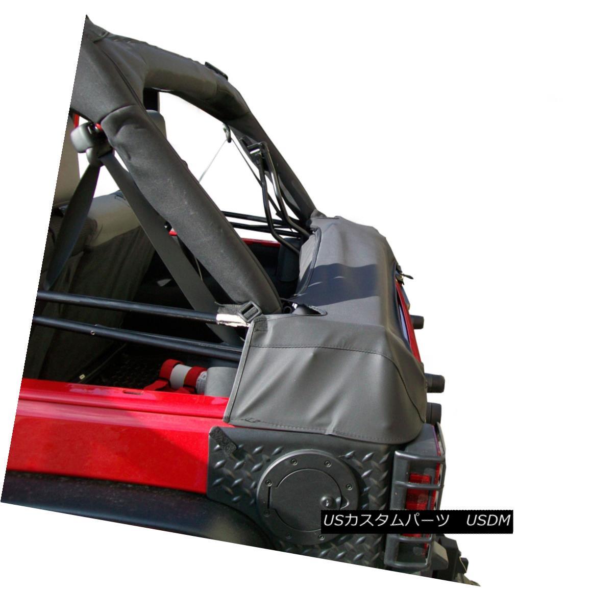 幌・ソフトトップ Soft Top Storage Boot, Black Diamond, 2-Door; 07-18 Jeep Wrangler JK ソフトトップストレージブーツ、ブラックダイヤモンド、2ドア; 07-18ジープラングラーJK