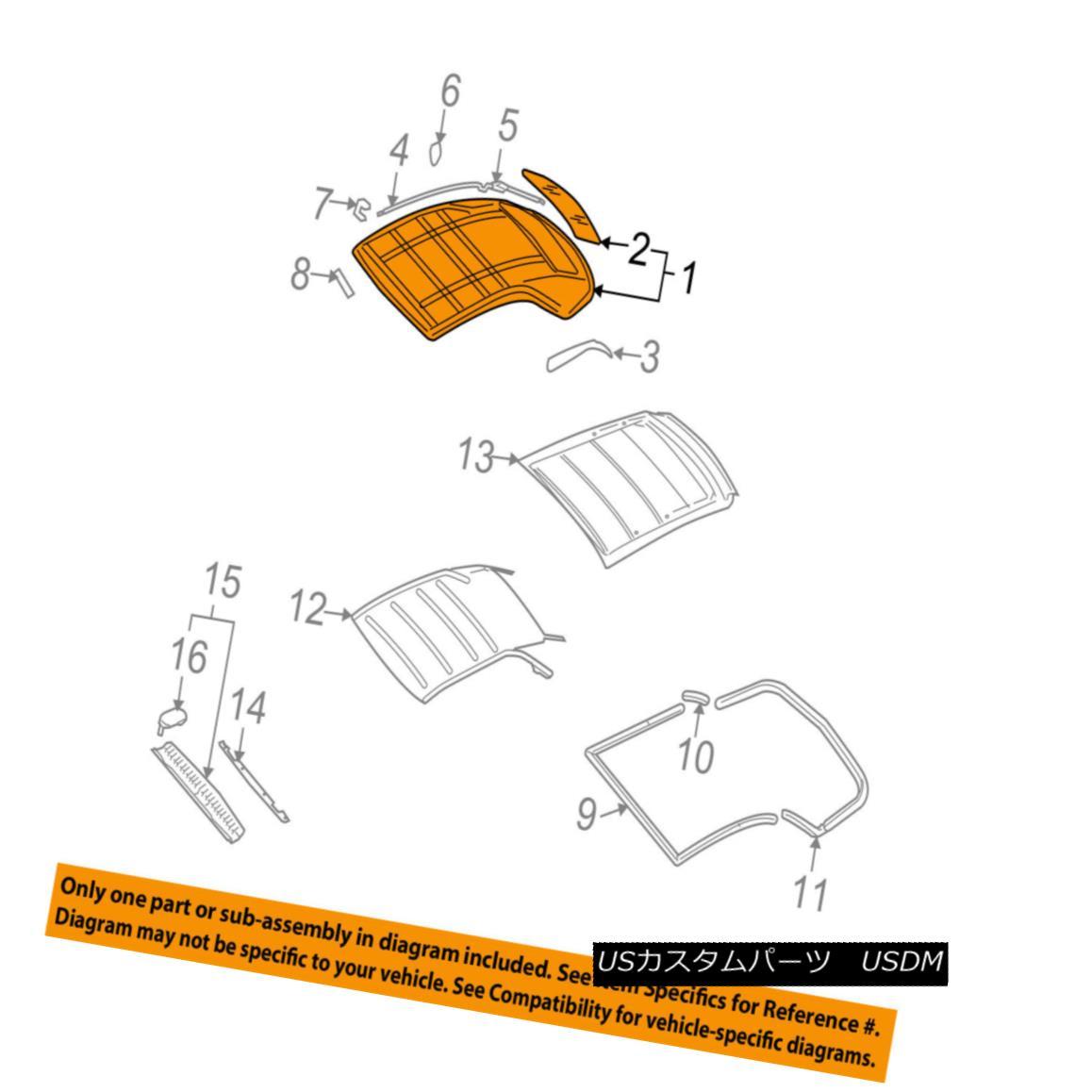 幌・ソフトトップ AUDI OEM 07-09 A4 Quattro Convertible Soft Top-Roof Assy 8H0871035E7M4 アウディOEM 07-09 A4クワトロコンバーチブルソフトトップルーフアッシー8H0871035E7M4