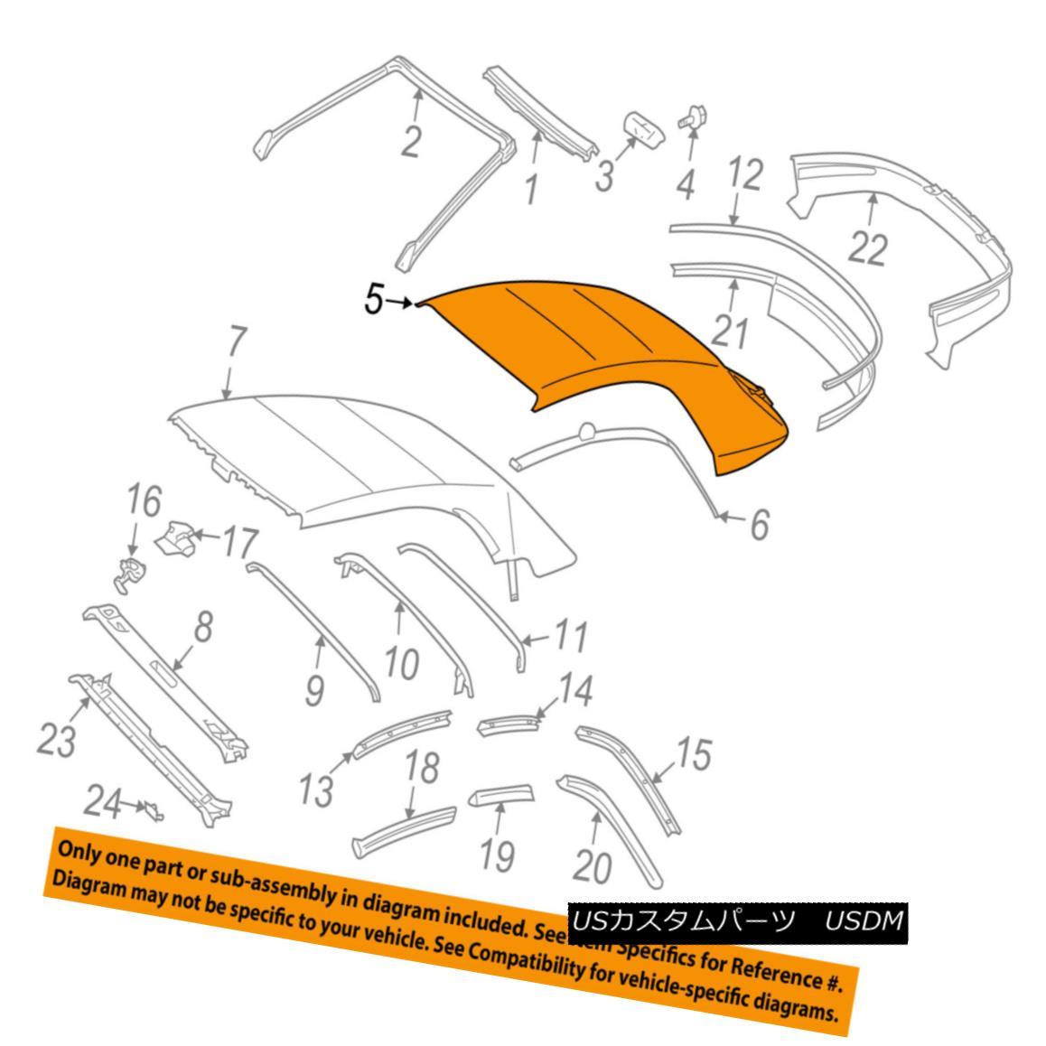幌・ソフトトップ TOYOTA OEM 04-08 Solara Convertible/soft Top-Top Cover 6591106012E0 TOYOTA OEM 04-08ソララ・コンバーチブル/ so ftトップ・トップ・カバー6591106012E0