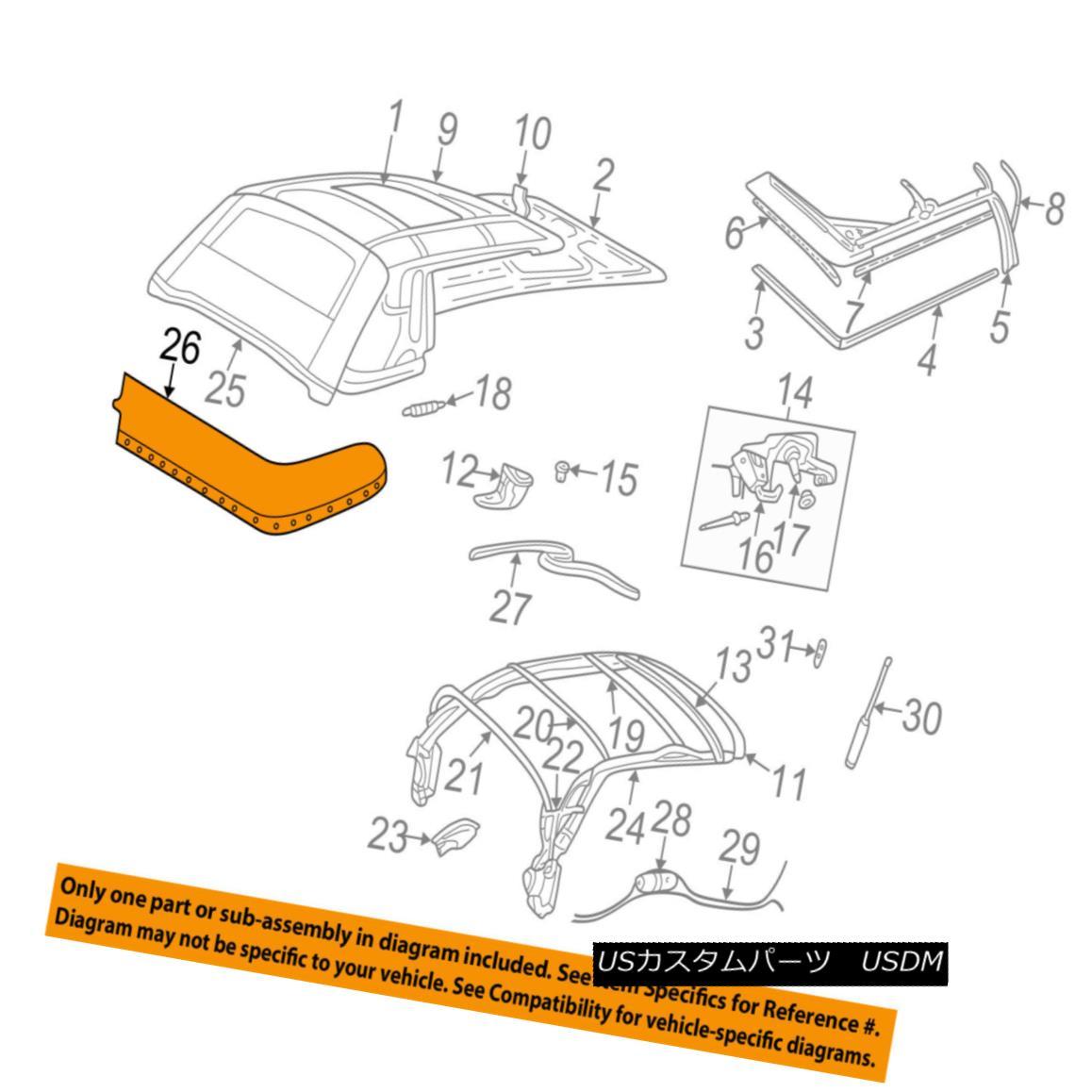 幌・ソフトトップ CHRYSLER OEM 05-06 Sebring Convertible/soft Top-Boot UP46TL2AD CHRYSLER OEM 05-06セブリング・コンバーチブル/ so ftトップ・ブートUP46TL2AD