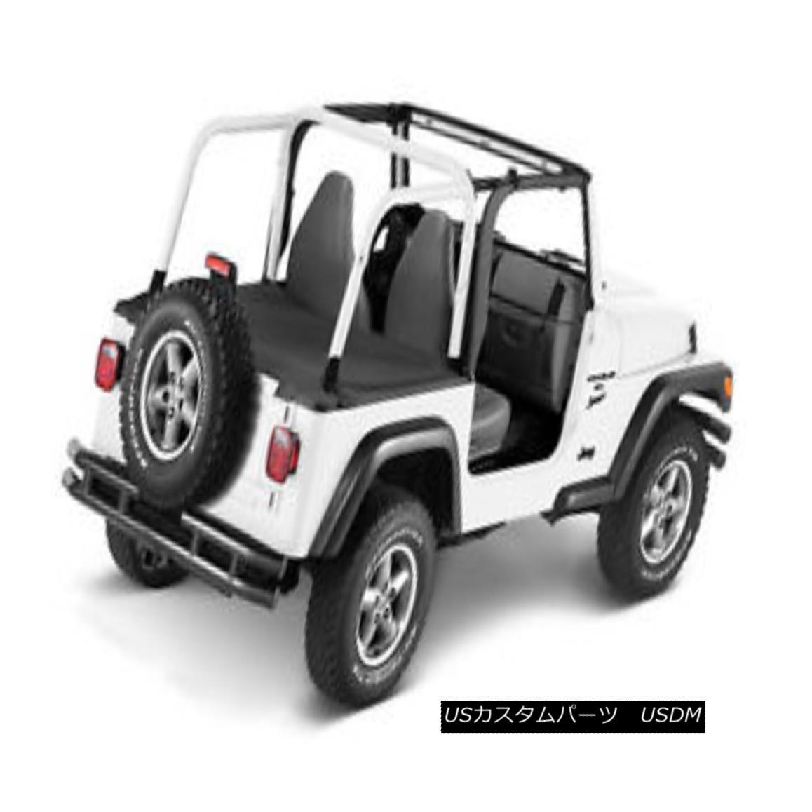 幌・ソフトトップ Bestop Duster Deck Cover 92-95 Jeep Wrangler YJ Black Denim w/ Factory Soft Top ベストセラーダスターデッキカバー92-95ジープラングラーYJブラックデニムファクトリーソフトトップ