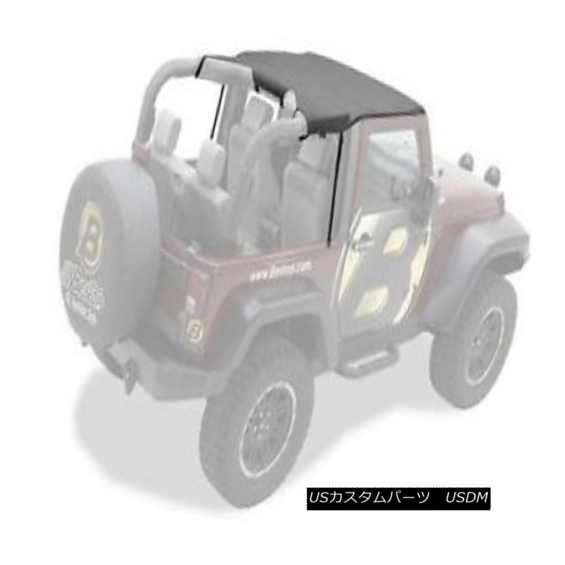 幌・ソフトトップ Bestop Header Bikini 07-09 Jeep Wrangler JK Black Diamond 52580-35 Bestop Headerビキニ07-09ジープラングラーJKブラックダイヤモンド52580-35