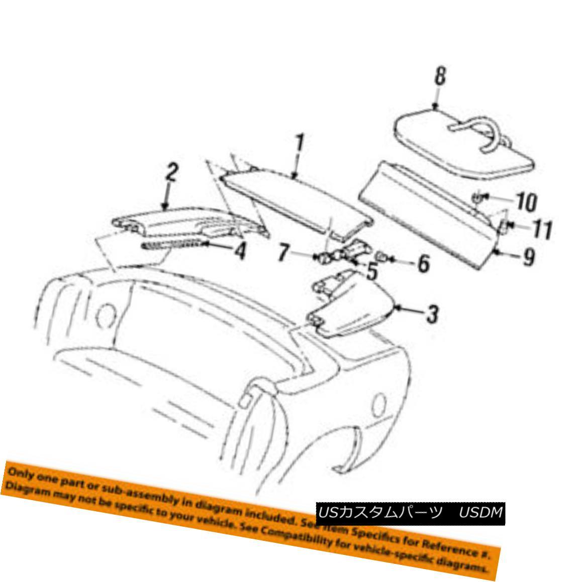 幌・ソフトトップ GM OEM Convertible/soft Top-Tonneau Cover Right 10294888 GMのOEMカブリオレ/ so ft Top-Tonneau Cover Right 10294888