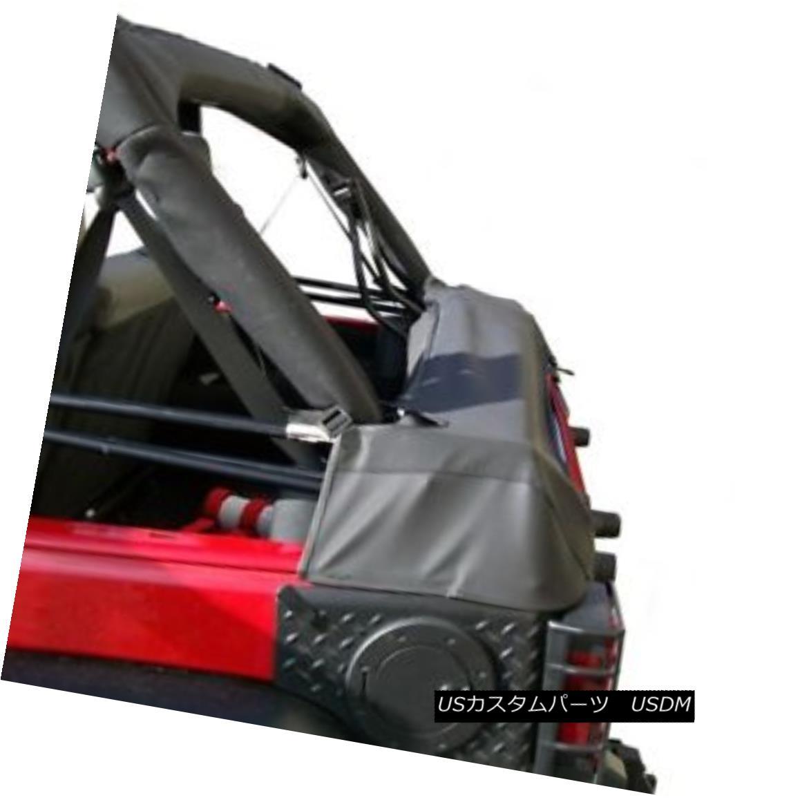 幌・ソフトトップ Soft Top Storage Boot, Black Diamond; 07-18 Jeep Wrangler JK 4-Door ソフトトップストレージブート、ブラックダイヤモンド; 07-18ジープラングラーJK 4ドア