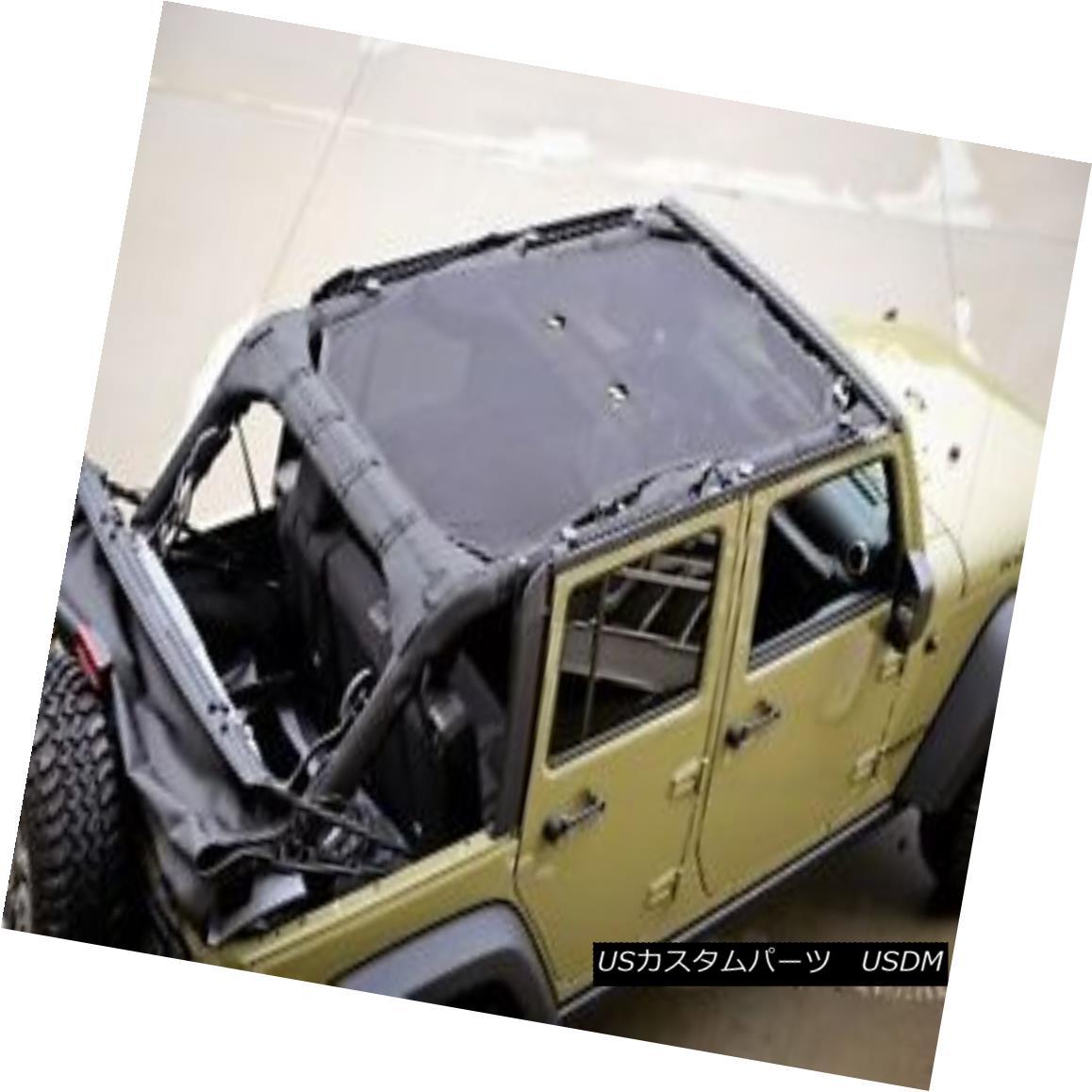 Mesh Top Cover Sun Shade Eclipse Top Cover 2007-2017 Jeep Wrangler JK 4 Doors