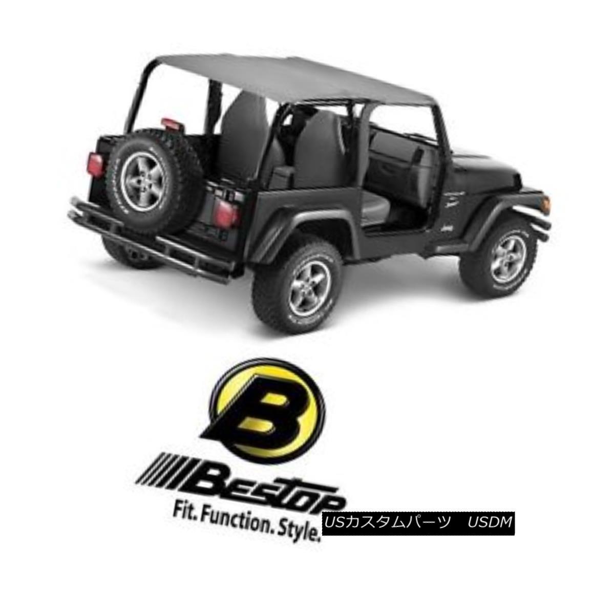 幌・ソフトトップ Bestop Bikini Safari Version for 92-95 Jeep Wrangler YJ Charcoal / Gray 52529-09 Bestopビキニサファリバージョン92-95ジープラングラーYJチャコール/グレー52529-09