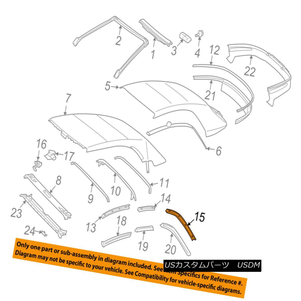 幌・ソフトトップ TOYOTA OEM 04-08 Solara Convertible/soft Top-Retainer Right 6593806010 TOYOTA OEM 04-08ソーララ・コンバーチブル/ so ftトップ保持者の権利6593806010