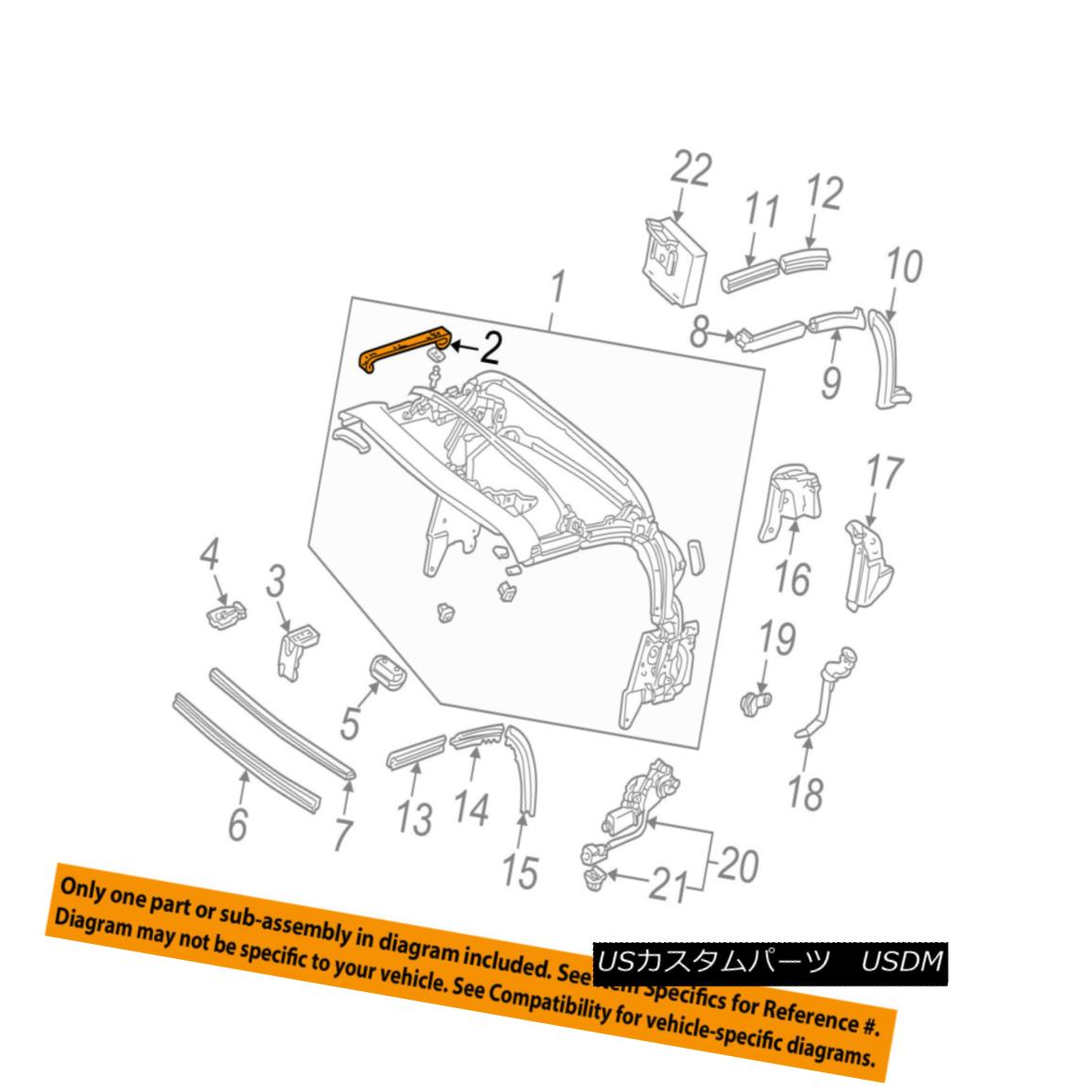 幌・ソフトトップ HONDA OEM 02-09 S2000 Convertible/soft Top-Band 86020S2AJ01 ホンダOEM 02-09 S2000コンバーチブル/ so ftトップバンド86020S2AJ01