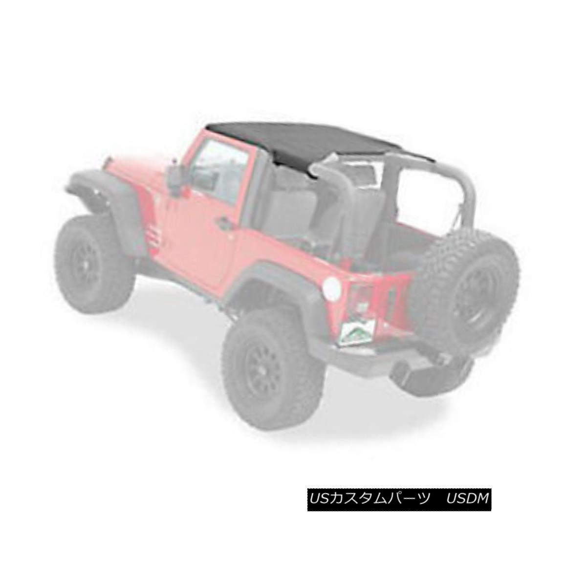 幌・ソフトトップ Pavement Ends Sun Cap Protection 07-17 Jeep Wrangler JK JKU Black Diamond 舗道はサンキャップ保護を終える07-17ジープラングラーJK JKUブラックダイヤモンド