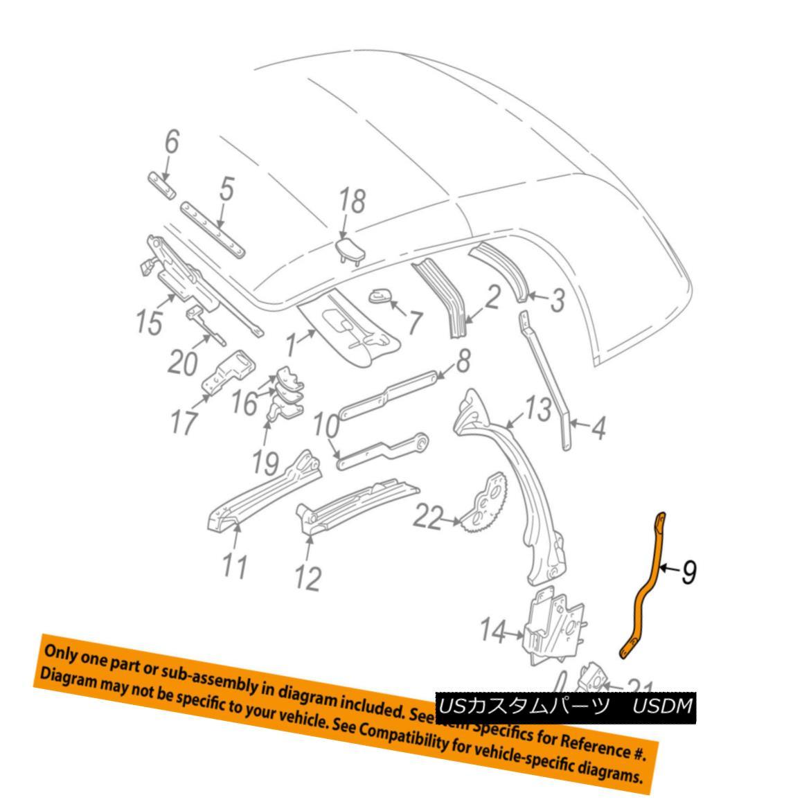 幌・ソフトトップ GM OEM Convertible/soft Top-Link Left 12368121 GMのOEMコンバーチブル/ so ftトップリンク左12368121