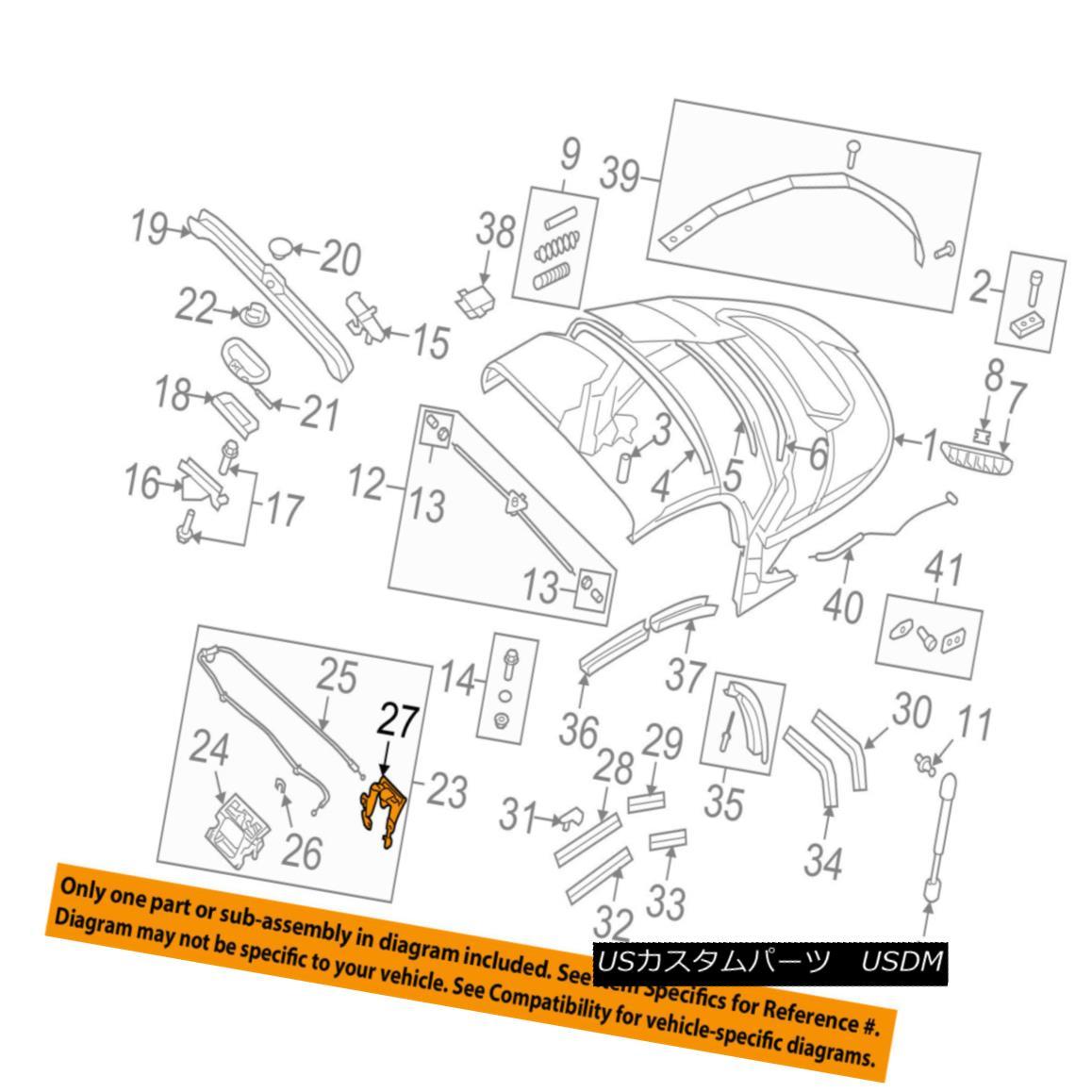 幌・ソフトトップ AUDI OEM 08-09 TT Quattro Convertible/soft Top-Bracket 8J7871459 AUDI OEM 08-09 TT Quattro Convertible / so ftトップブラケット8J7871459