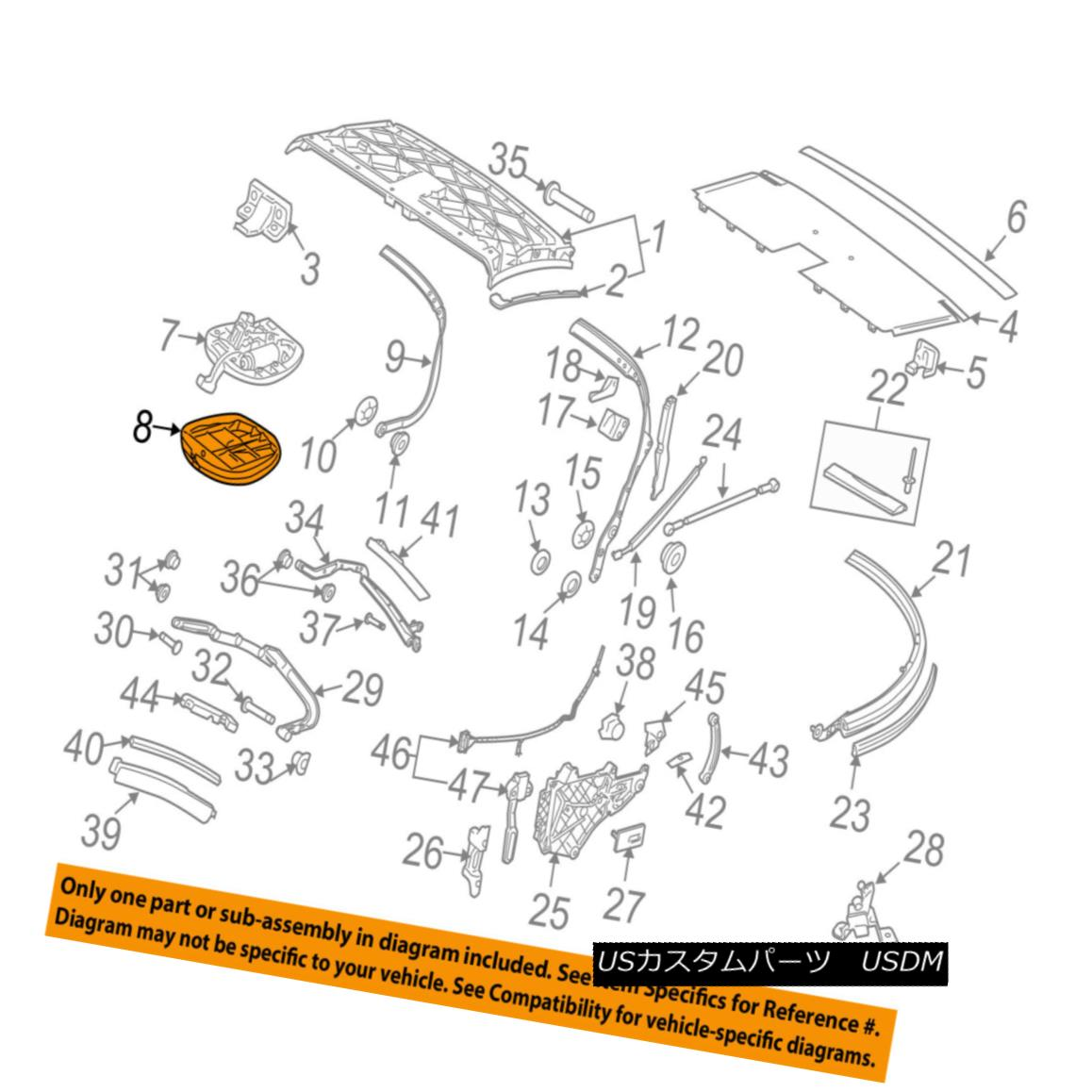 幌・ソフトトップ PORSCHE OEM 06-13 911 Convertible/soft Top-Latch Cover 9975615150001C PORSCHE OEM 06-13 911コンバーチブル/ so ftトップラッチカバー9975615150001C