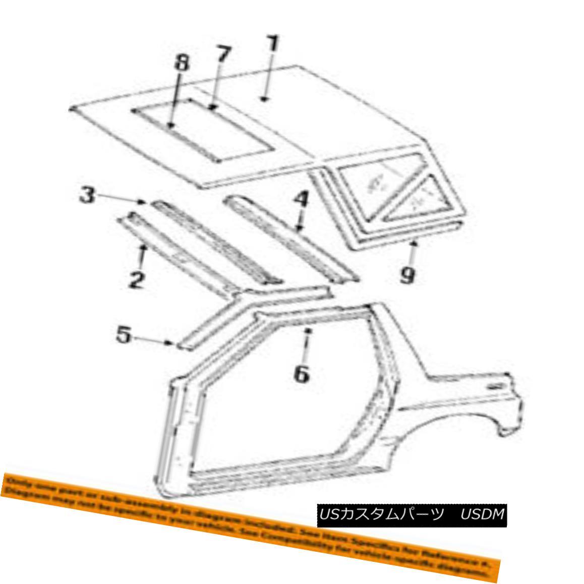 幌・ソフトトップ Geo GM OEM 95-96 Tracker Convertible/soft Top-Weatherstrip Seal Left 30015752 地理的GMのOEM 95-96トラッカー・コンバーチブル/ so ft Top-Weatherstr ip seal left 30015752