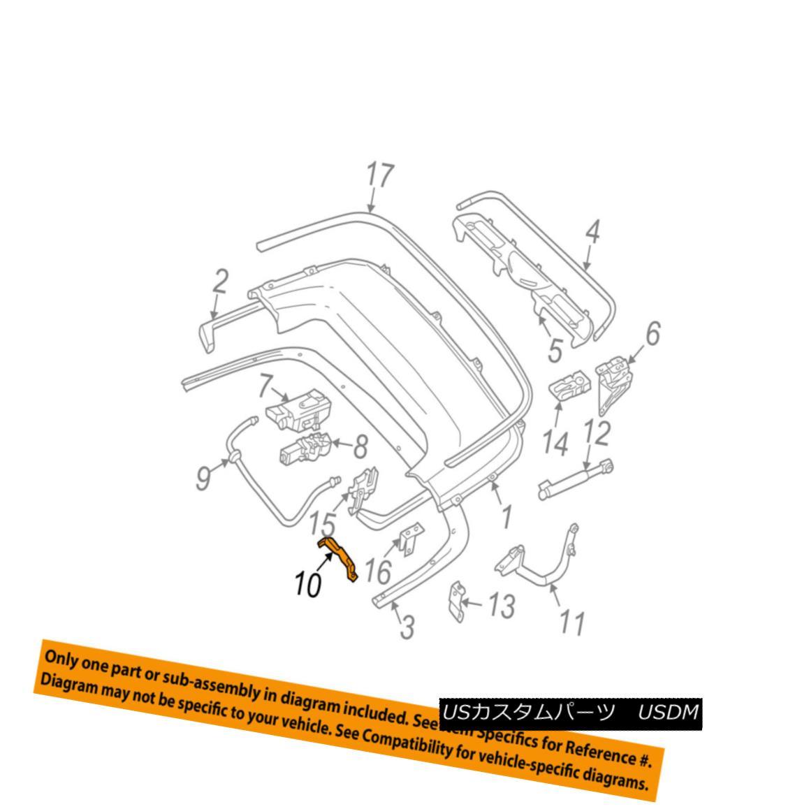 幌・ソフトトップ BMW OEM 325Ci Storage Cover-Convertible/soft Top-Top Cover Right 51178245856 BMW OEM 325Ciストレージカバーコンバーチブル/ソフトトップカバートップ51178245856