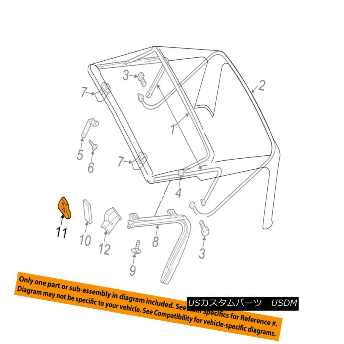 幌・ソフトトップ Jeep CHRYSLER OEM 97-99 Wrangler Convertible/soft Top-Seal Left 5012299AA ジープクライスラーOEM 97-99ラングラー・コンバーチブル/ so ftトップシール左5012299AA