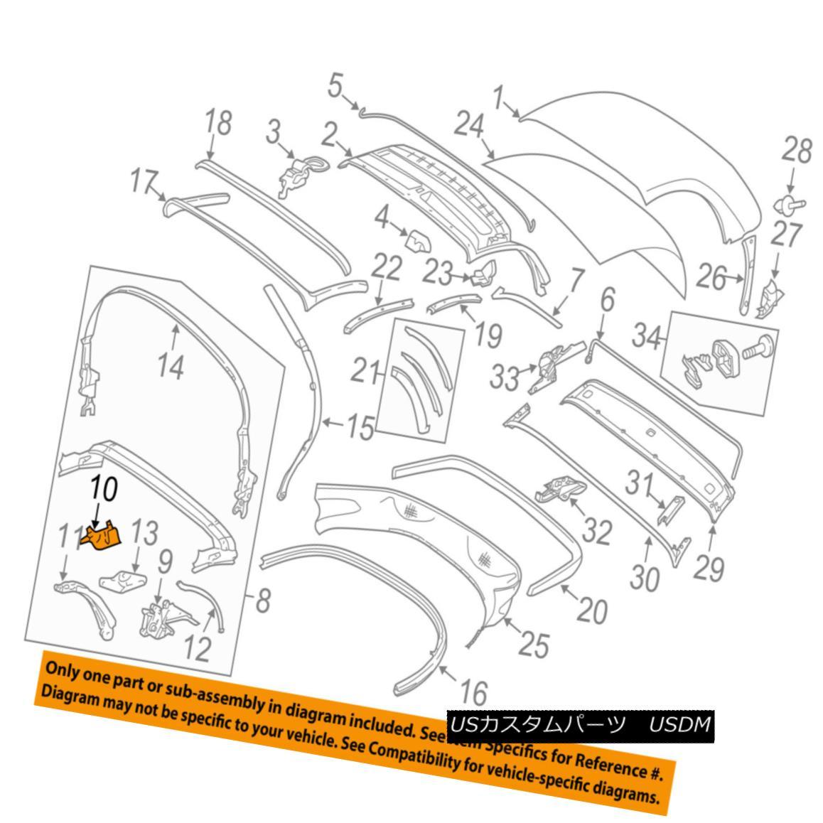 幌・ソフトトップ PORSCHE OEM 05-12 Boxster Convertible/soft Top-Trim Right 98756116601A09 PORSCHE OEM 05-12 Boxster Convertible / so ftトップトリムライト98756116601A09