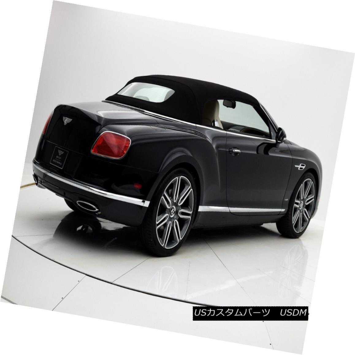 幌・ソフトトップ 2007-2014 Bentley GT/GTC Replacement Convertible Soft Top - Black Twillfast RPC 2007-2014ベントレーGT / GTC交換用ソフトトップ - ブラックツイルファーストRPC