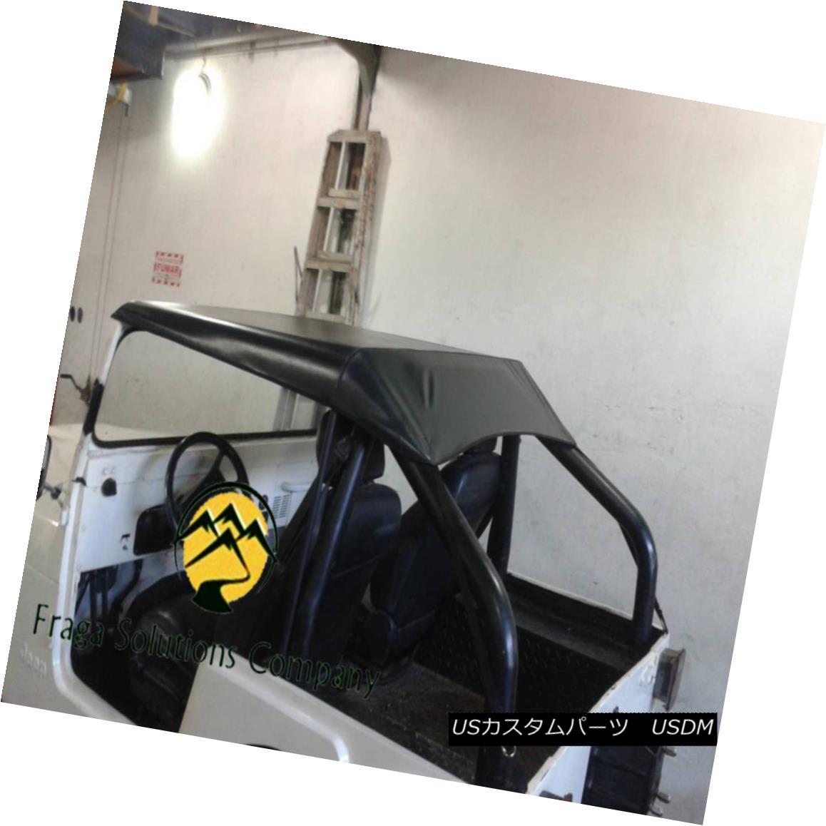 幌・ソフトトップ JEEP CJ5 CJ7 SOFT TOP SAFARY COLOR BLACK  NEW ジープCJ5 CJ7ソフトトップサファリカラーブラック