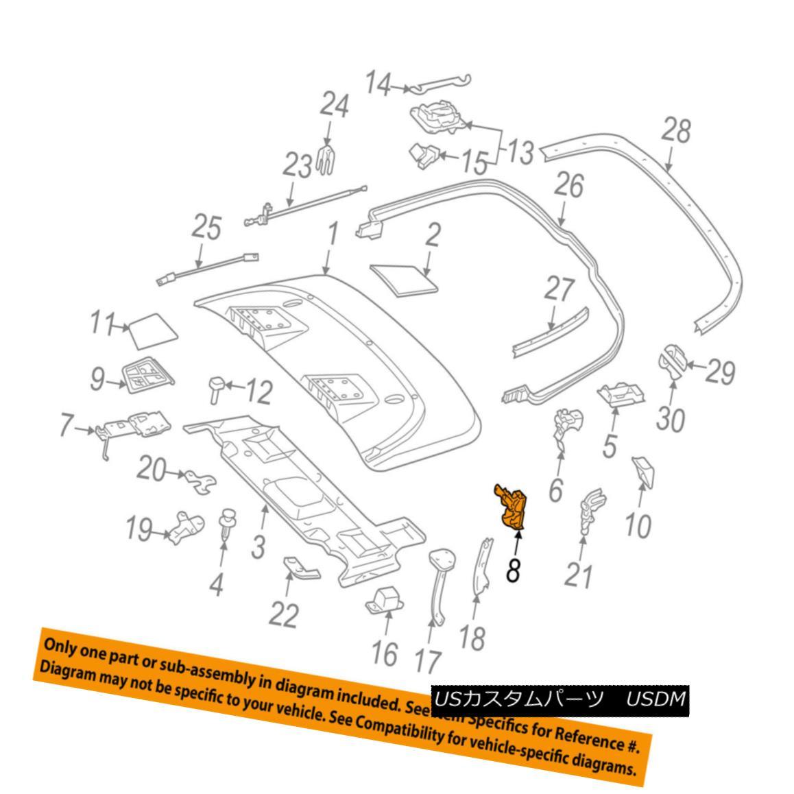 幌・ソフトトップ MERCEDES OEM 15-17 E400 Convertible/soft Top-Hinge 2077501100 MERCEDES OEM 15-17 E400コンバーチブル/ so ft Top-Hinge 2077501100