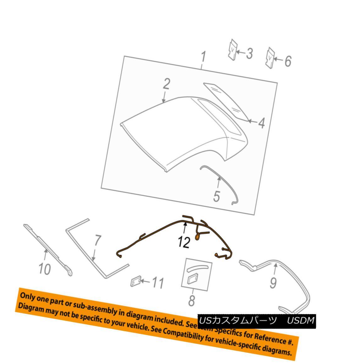 幌・ソフトトップ AUDI OEM 10-17 A5 Quattro Convertible/soft Top-Wire Harness 8F0972811A AUDI OEM 10-17 A5 Quattro Convertible / so ftトップワイヤーハーネス8F0972811A