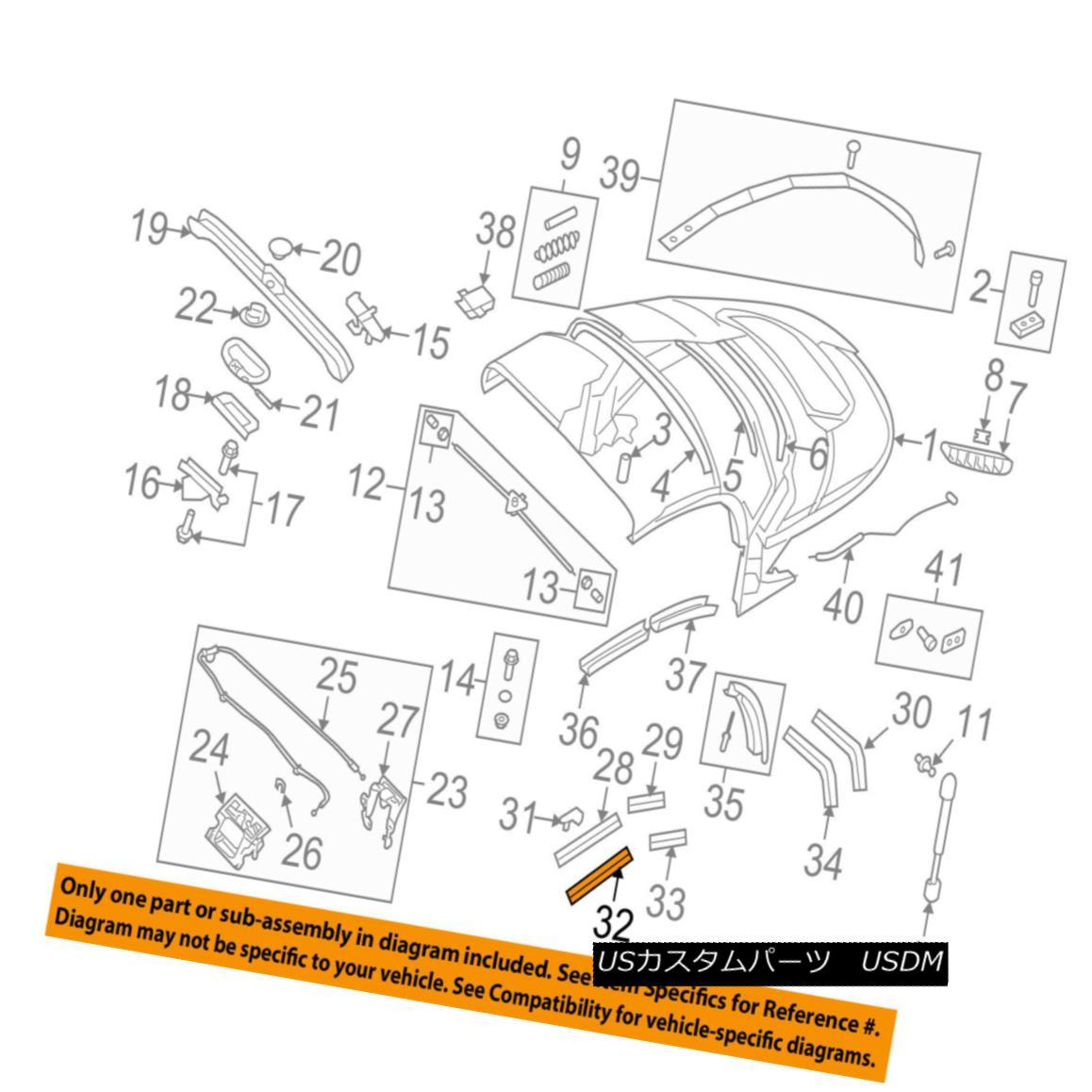 幌・ソフトトップ AUDI OEM 08-15 TT Quattro Convertible/soft Top-Channel Gasket Right 8J7871456 AUDI OEM 08-15 TT Quattro Convertible / so ftトップチャンネルガスケット右8J7871456