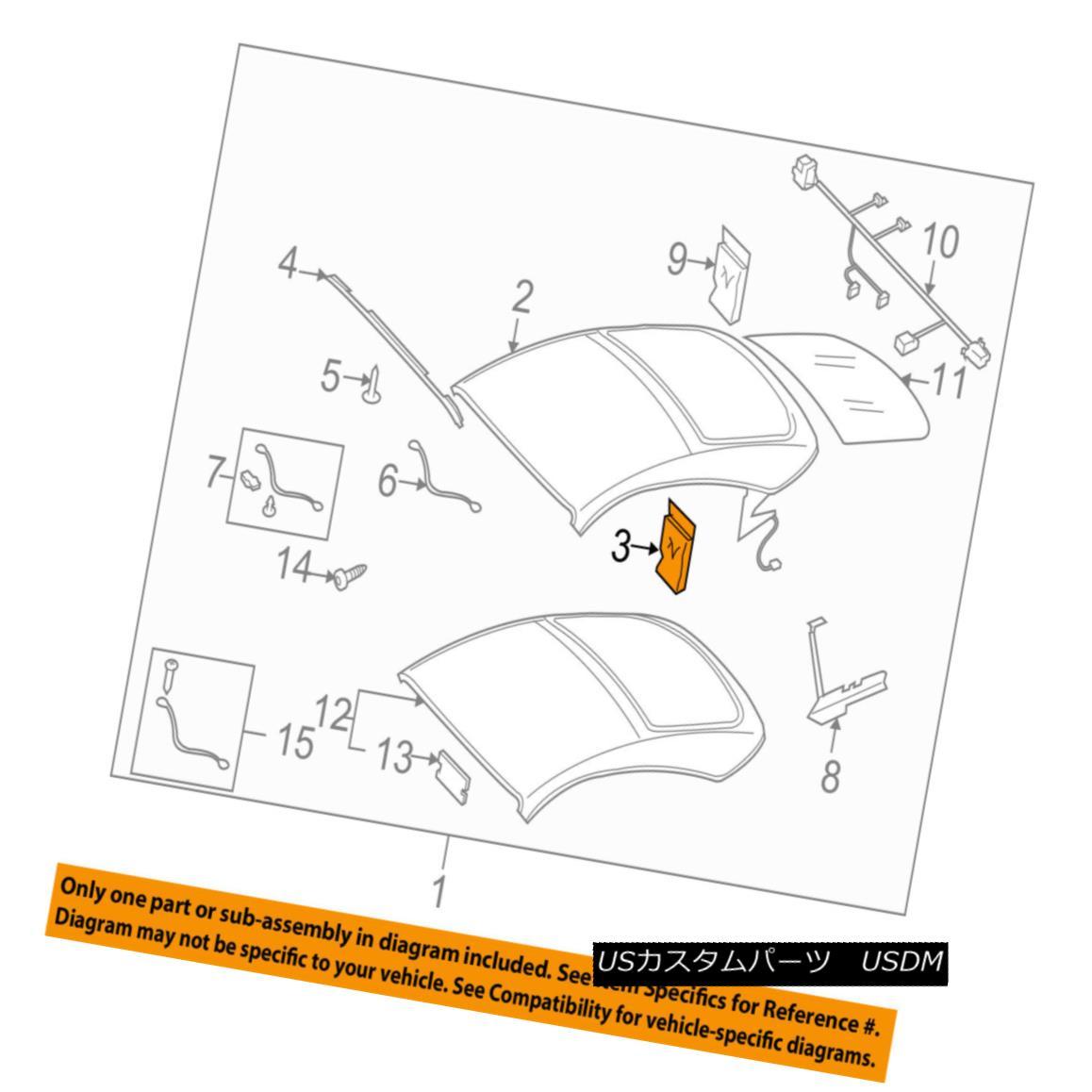 幌・ソフトトップ AUDI OEM 08-15 TT Quattro Convertible/soft Top-Hardware Kit 8J7898397 AUDI OEM 08-15 TT Quattro Convertible / so ftトップハードウェアキット8J7898397