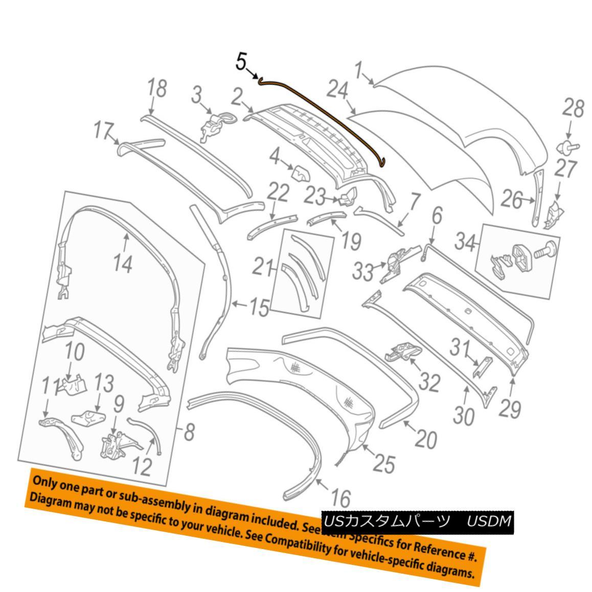 幌・ソフトトップ PORSCHE OEM 05-12 Boxster Convertible/soft Top-Tension Rope 98756177301 ポルシェOEM 05-12 Boxster Convertible / so ftトップテンションロープ98756177301