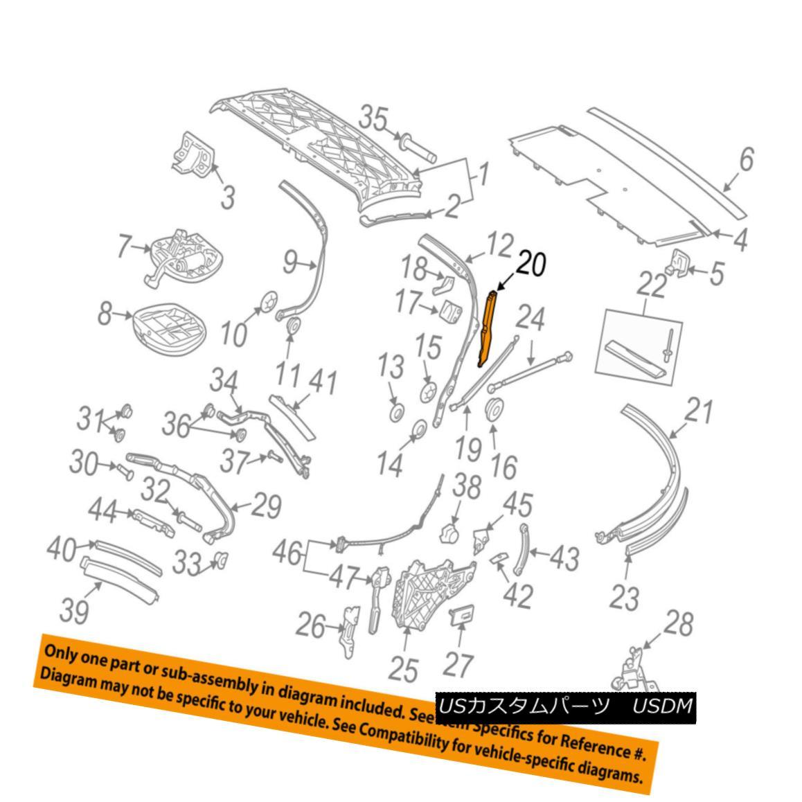 幌・ソフトトップ PORSCHE OEM 06-13 911 Convertible/soft Top-Insulator Right 99656126000 PORSCHE OEM 06-13 911コンバーチブル/ so ftトップインシュレータ右99656126000