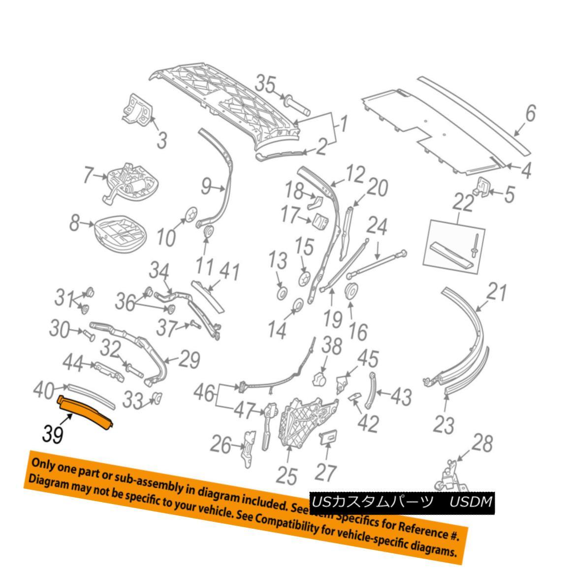 幌・ソフトトップ PORSCHE OEM 99-13 911 Convertible/soft Top-Front Retainer Right 99756135601A09 PORSCHE OEM 99-13 911コンバーチブル/ so ftトップフロントリテーナー右99756135601A09
