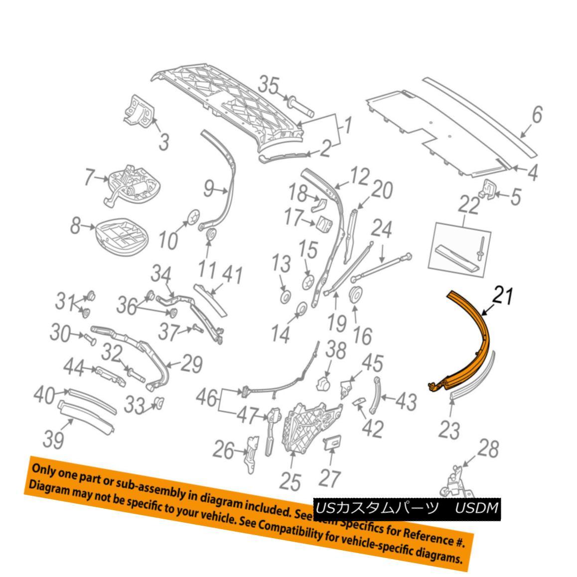 幌・ソフトトップ PORSCHE OEM 09-13 911 Convertible/soft Top-Rear Bow 99756194100 PORSCHE OEM 09-13 911コンバーチブル/ so ftトップ - リアボウ99756194100