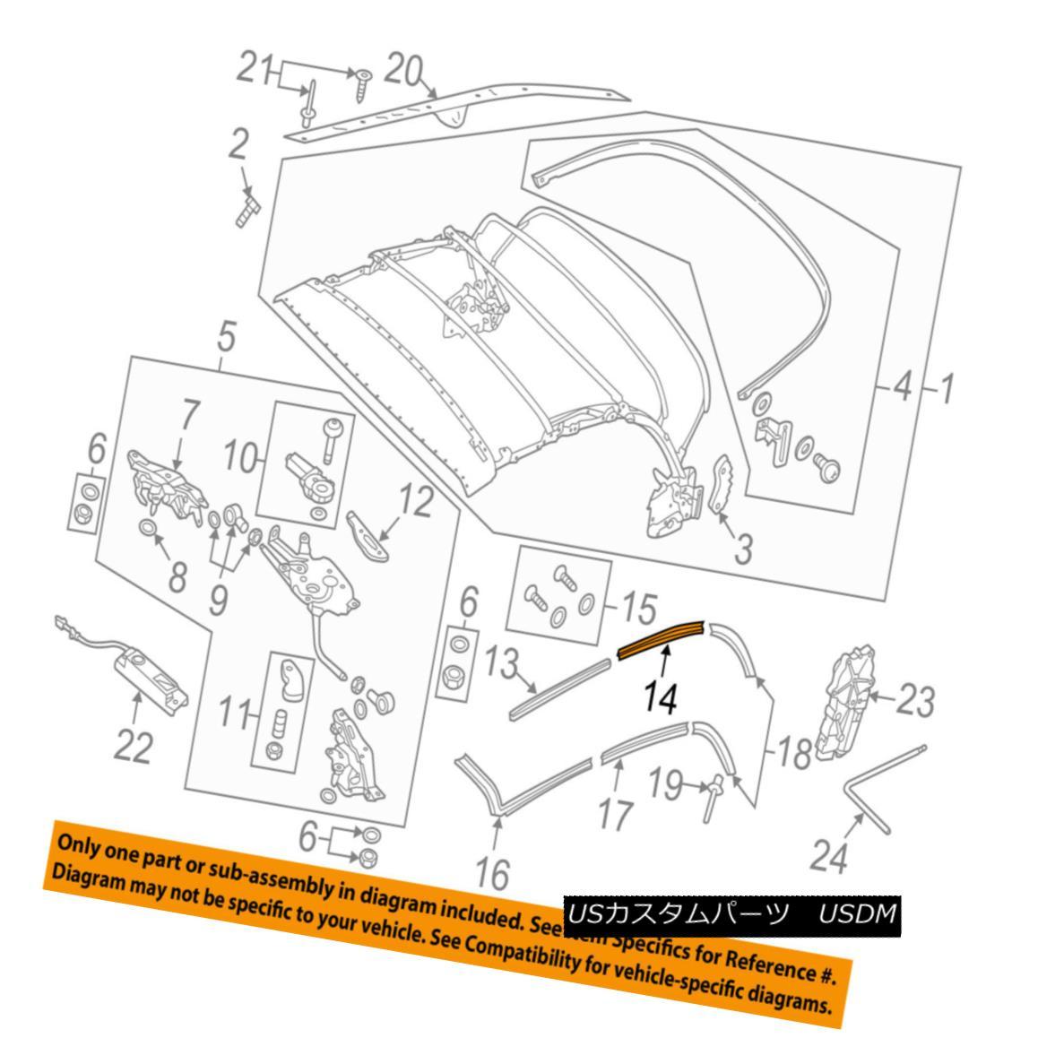 幌・ソフトトップ VW VOLKSWAGEN OEM 13-17 Beetle Soft Top-Rear Track Left 5C3871359 VWフォルクスワーゲンOEM 13-17ビートルソフト・トップ・リア・トラック左5C3871359