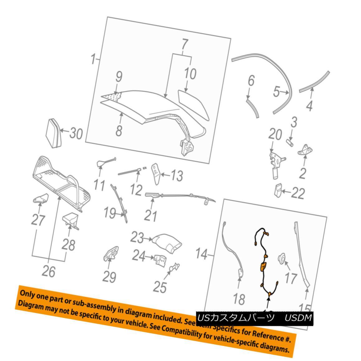 幌・ソフトトップ VW VOLKSWAGEN OEM Beetle Convertible/soft Top-Cable & Guide Left 1Y0871341B VWフォルクスワーゲンOEMビートルコンバーチブル/ so ftトップケーブル& ガイド1Y0871341B