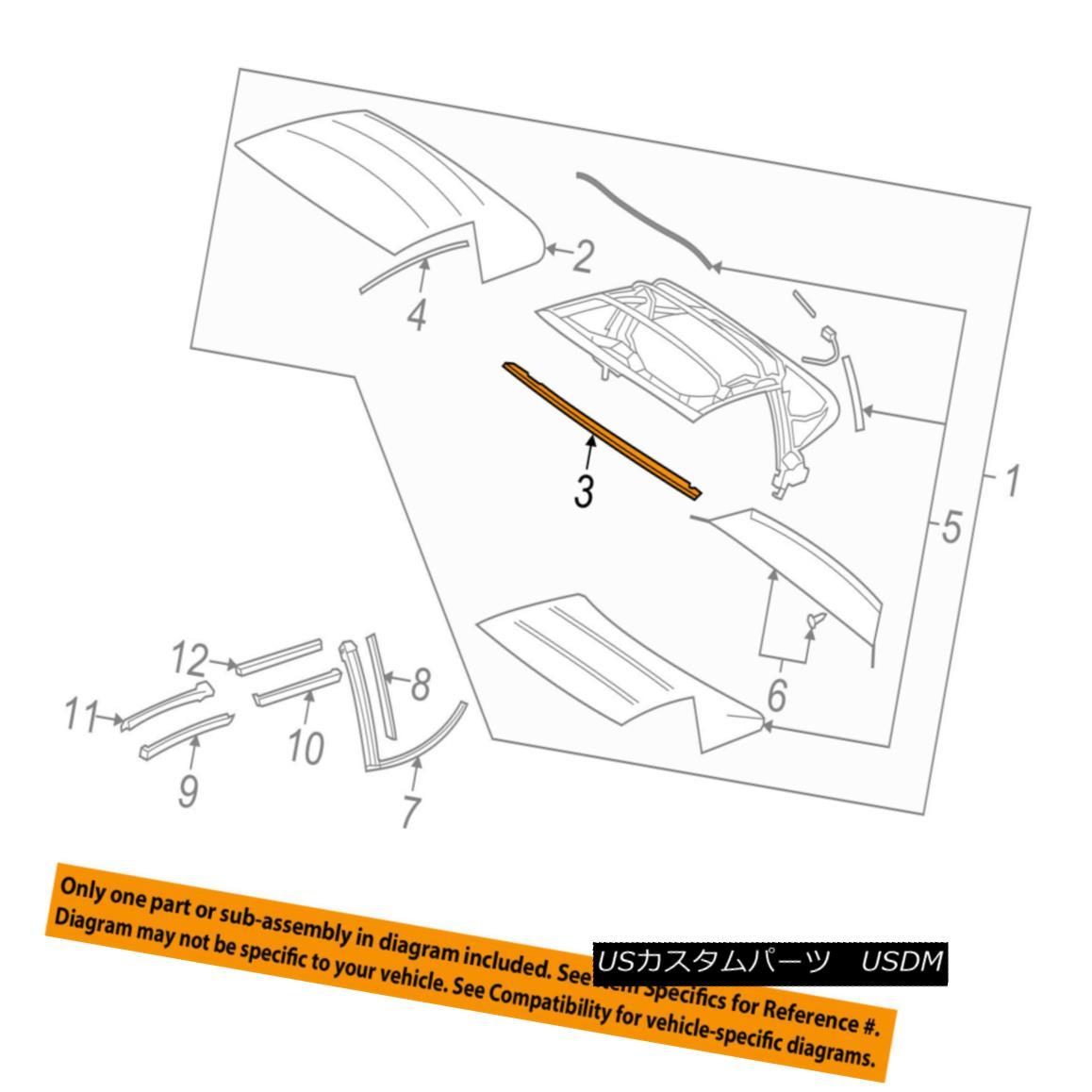 幌・ソフトトップ Chevrolet GM OEM 05-13 Corvette Convertible/soft Top-Retainer 20863581 Chevrolet GM OEM 05-13コルベット・コンバーチブル/ so ftトップ・リテーナー20863581