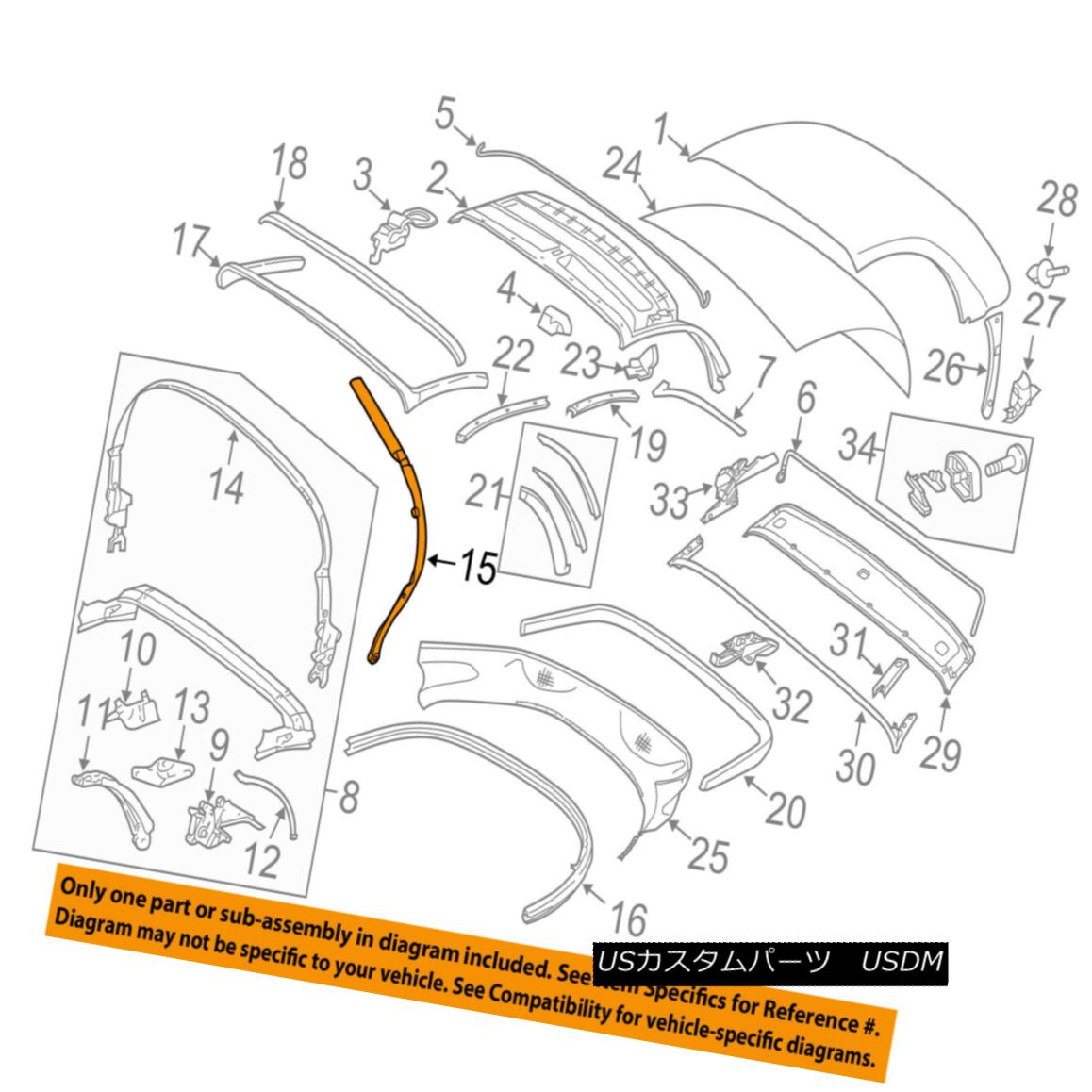 幌・ソフトトップ PORSCHE OEM 05-12 Boxster Convertible/soft Top-Strut 98756123703 PORSCHE OEM 05-12 Boxster Convertible / so ftトップストラット98756123703