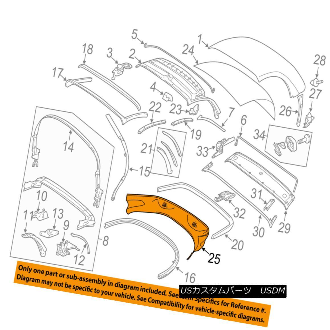 幌・ソフトトップ PORSCHE OEM 05-12 Boxster Convertible/soft Top-Lower Cover 98756108501A21 PORSCHE OEM 05-12 Boxster Convertible / so ftトップロワーカバー98756108501A21