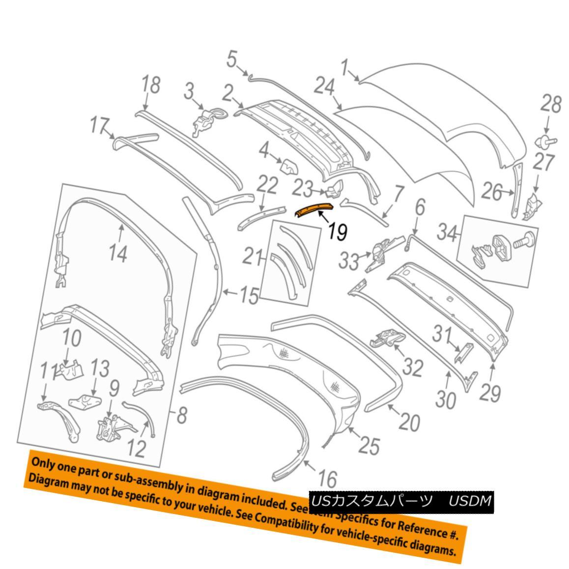 幌・ソフトトップ PORSCHE OEM 05-12 Boxster Convertible/soft Top-Retainer Right 98756111601 PORSCHE OEM 05-12 Boxster Convertible / so ftトップ保持者の権利98756111601