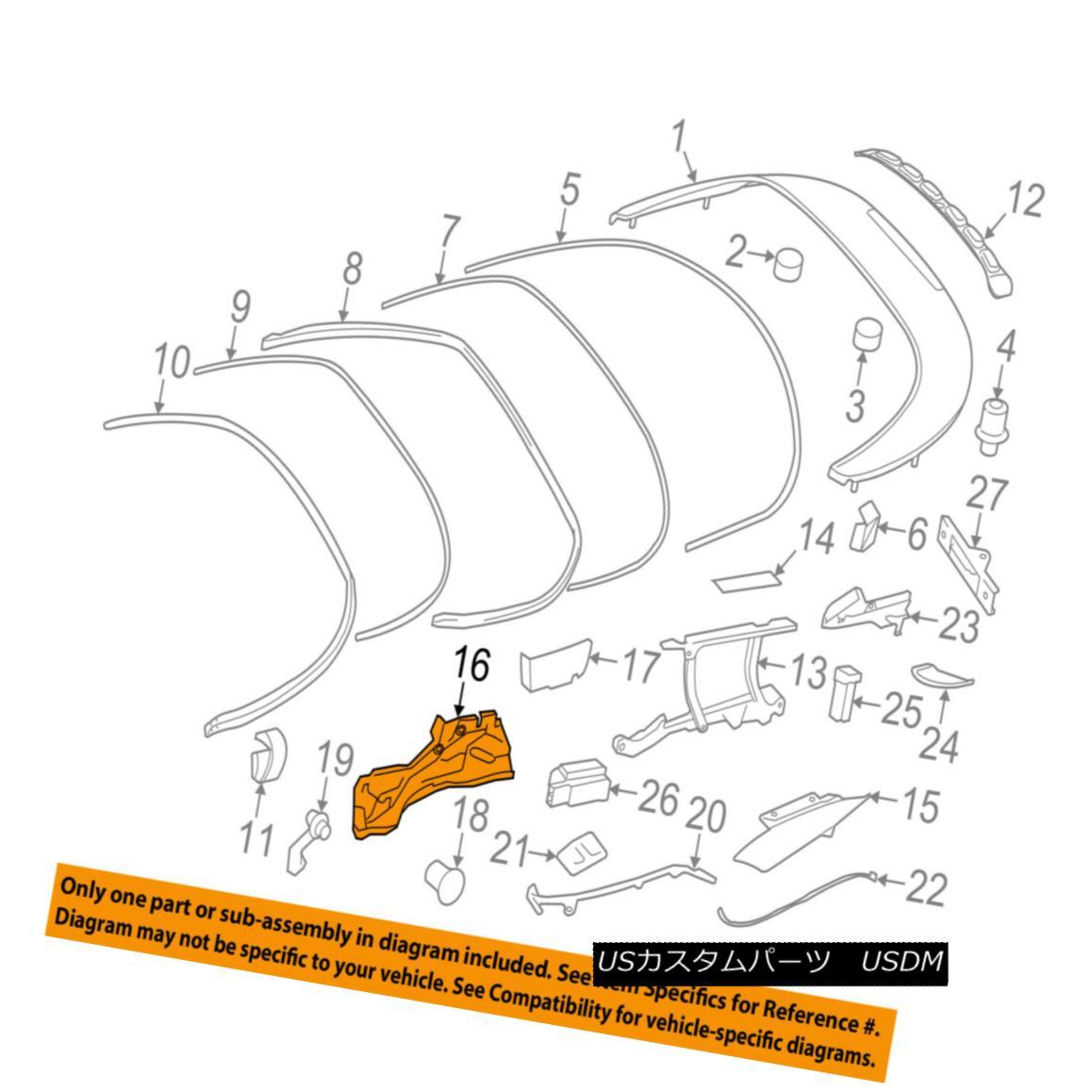 幌・ソフトトップ PORSCHE OEM 99-12 911 Convertible/soft Top-Drip Channel Right 99656180603 PORSCHE OEM 99-12 911コンバーチブル/ so ftトップドリップチャンネル右99656180603