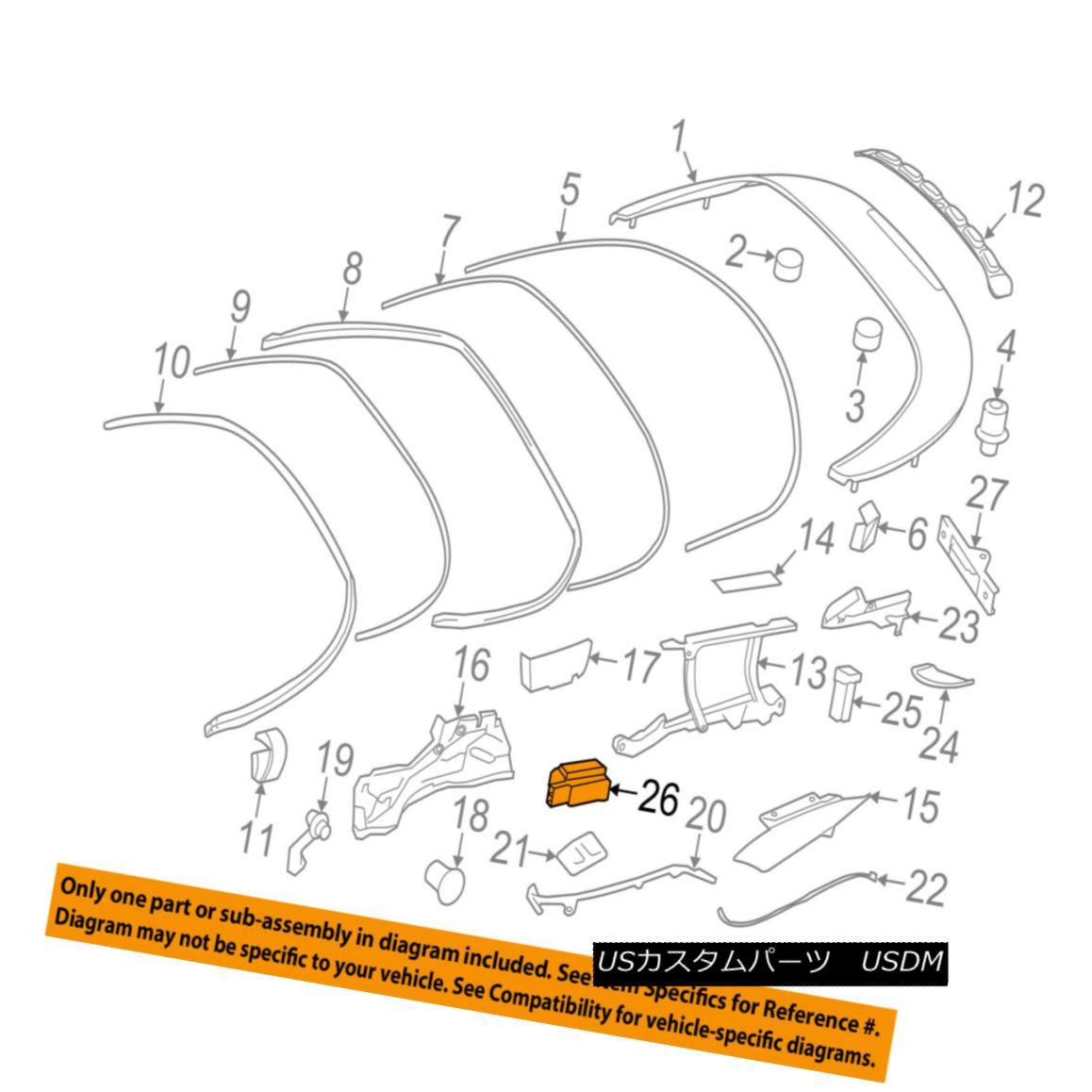 幌・ソフトトップ PORSCHE OEM 08-13 911 Convertible/soft Top-Stop 99756180102 PORSCHE OEM 08-13 911変換可能/ so ftトップストップ99756180102