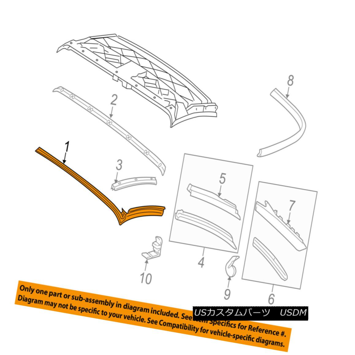 幌・ソフトトップ PORSCHE OEM 05-13 911 Convertible/soft Top-Front Weatherstrip Seal 99756193700 PORSCHE OEM 05-13 911コンバーチブル/ so ftトップフロントウェザーストリップシール99756193700