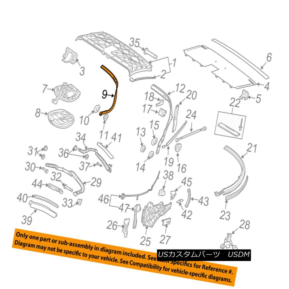 幌・ソフトトップ PORSCHE OEM 09-13 911 Convertible/soft Top-Front Bow 99756194200 ポルシェOEM 09-13 911コンバーチブル/ so ftトップフロントボウ99756194200