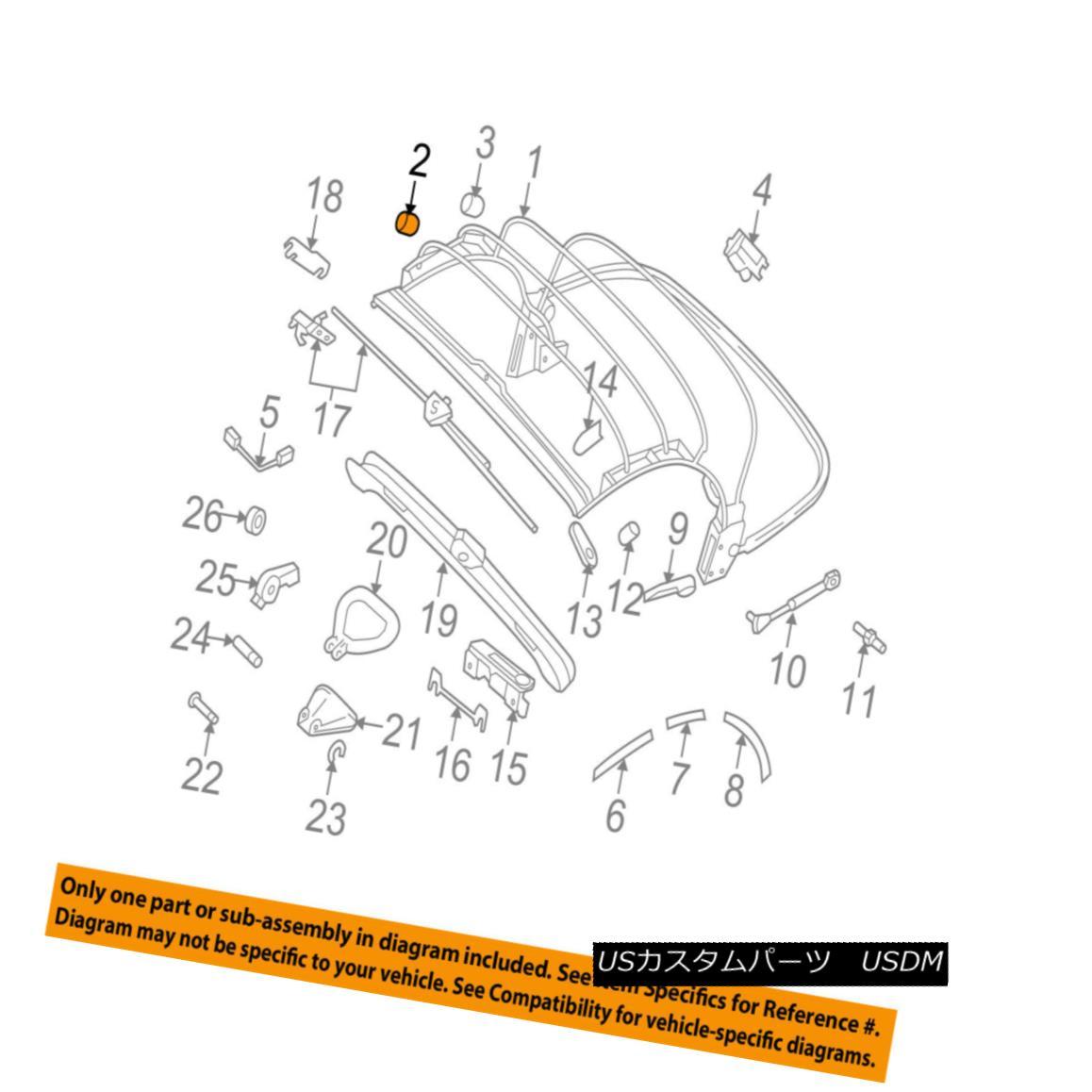 幌・ソフトトップ VW VOLKSWAGEN OEM 03-10 Beetle Convertible/soft Top-Stop Right 1Y0871136 VWフォルクスワーゲンOEM 03-10ビートルコンバチブル/ so ftトップストップライト1Y0871136