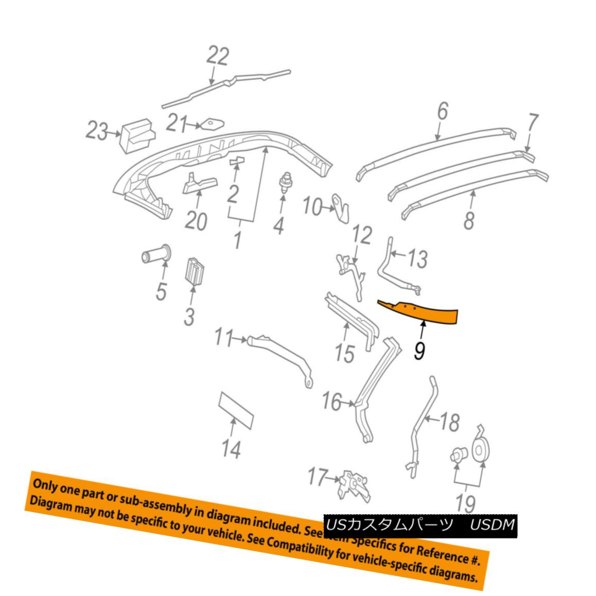 幌・ソフトトップ Chevrolet GM OEM 05-13 Corvette Convertible/soft Top-Rear Bow 89023790 Chevrolet GM OEM 05-13コルベット・コンバーチブル/ so ftトップ・リア・ボウ89023790