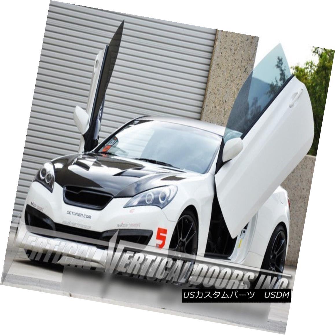 ガルウィングキット For Genesis Coupe 09-10 2DR Vertical Doors Inc Lambo Door Kit VDI Bolt On ジェネシスクーペのために09-10 2DR垂直ドアInc LamboドアキットVDIボルトオン
