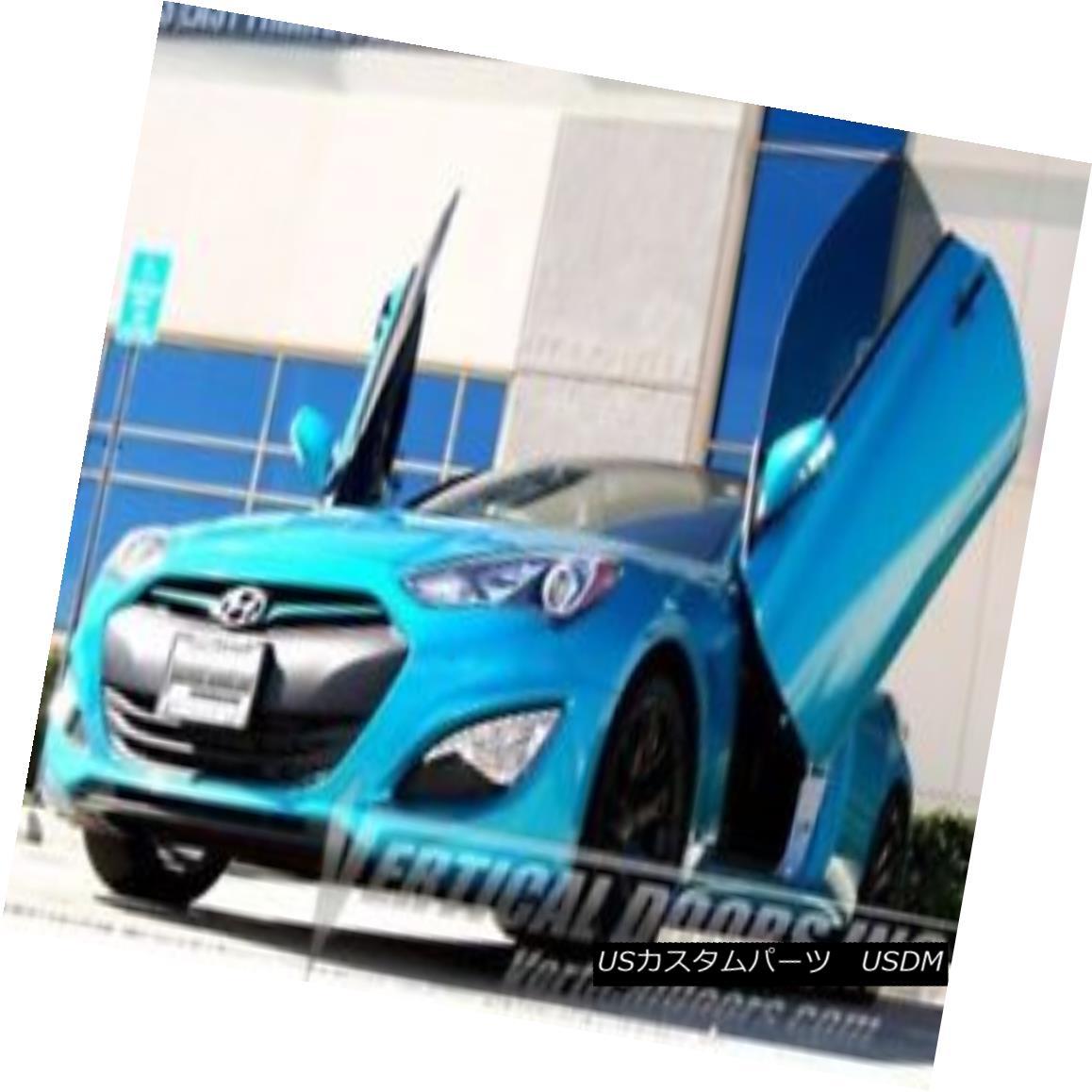 ガルウィングキット Fit Hyundai Genesis Coupe 10-15 Lambo Style Vertical Doors VDI Bolt On Hinge Kit フィット現代ジェネシスクーペ10-15ランボスタイルの垂直ドアVDIボルトヒンジキット